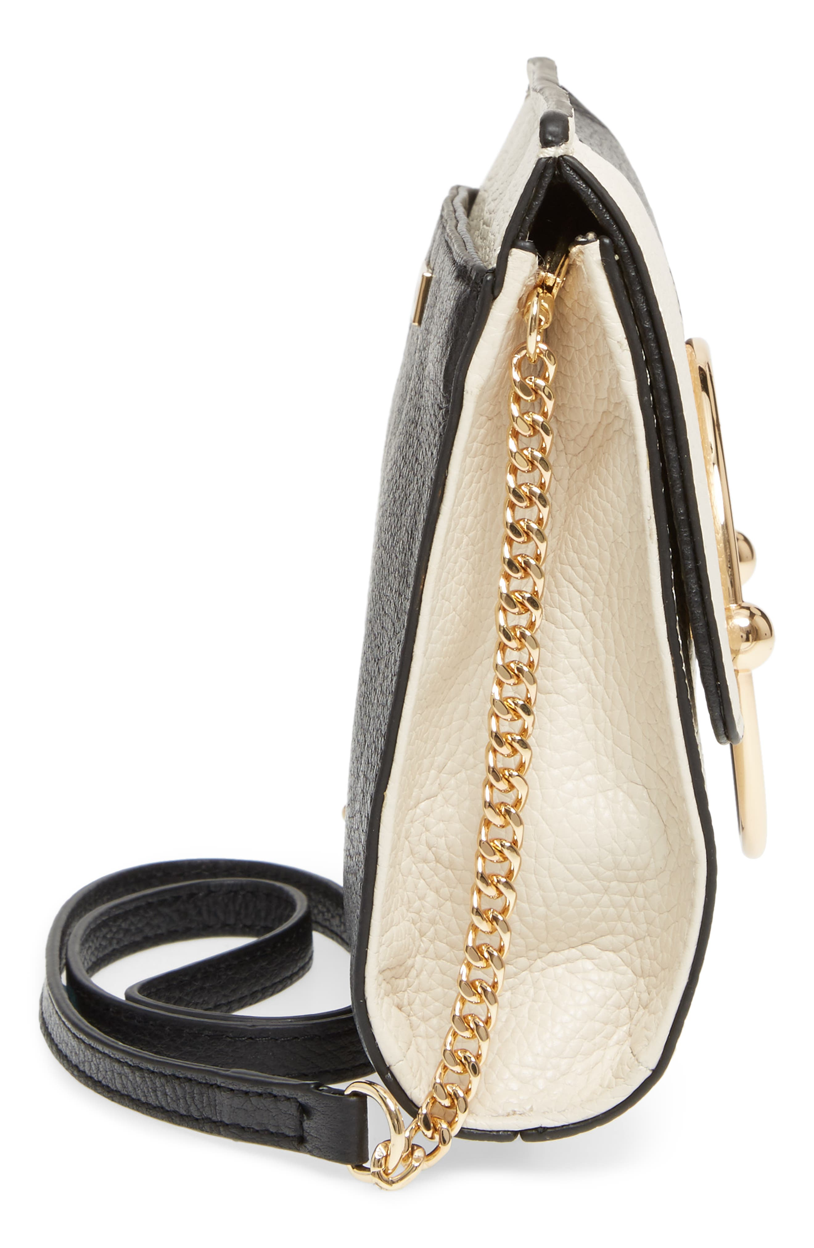 Astor Pebbled Leather Flap Clutch,                             Alternate thumbnail 18, color,
