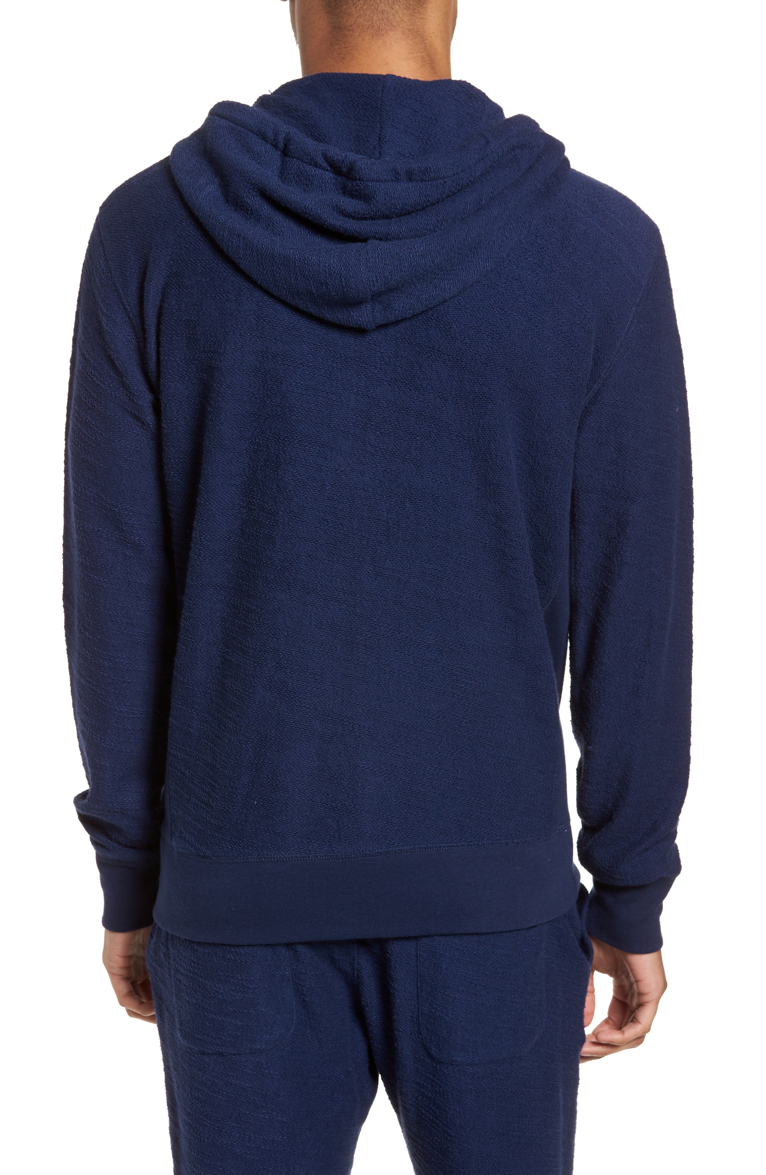 Terrycloth Cotton Blend Zip Hoodie,                             Alternate thumbnail 6, color,