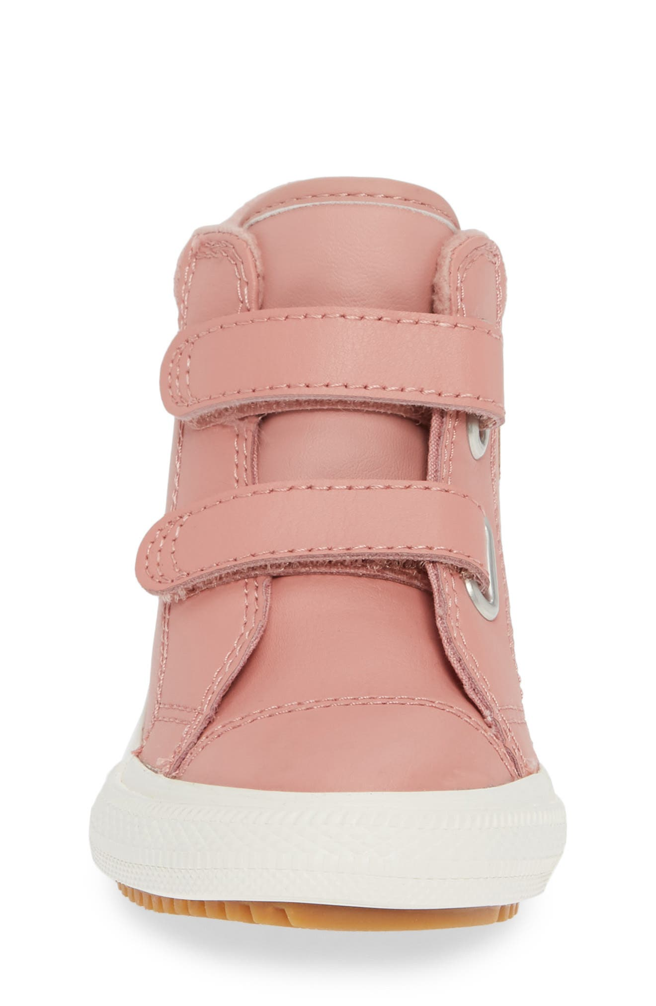Chuck Taylor<sup>®</sup> All Star<sup>®</sup> 2V Leather High Top Sneaker,                             Alternate thumbnail 4, color,                             RUST PINK