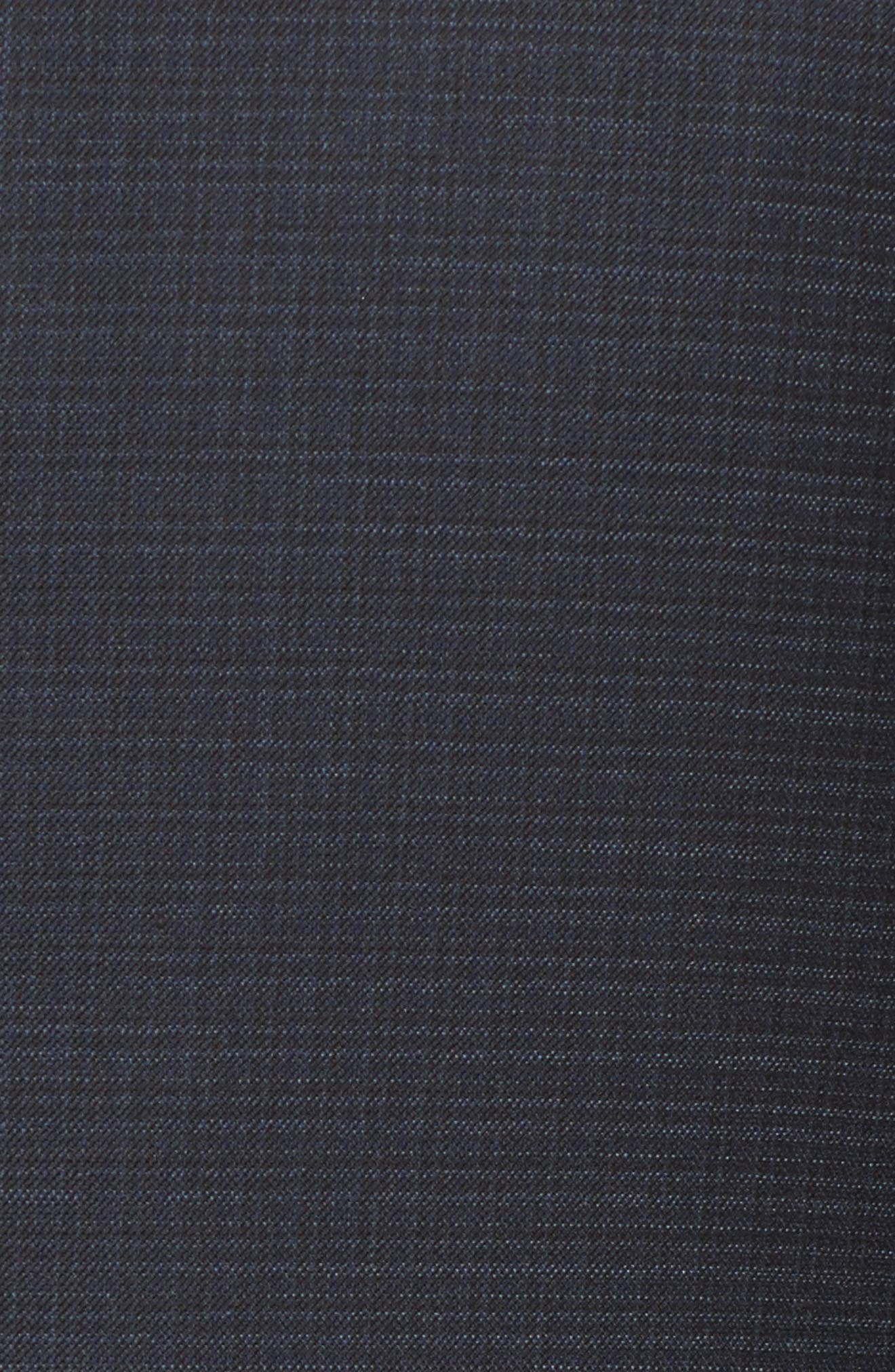 Classic B Fit Check Wool & Cashmere Suit,                             Alternate thumbnail 7, color,