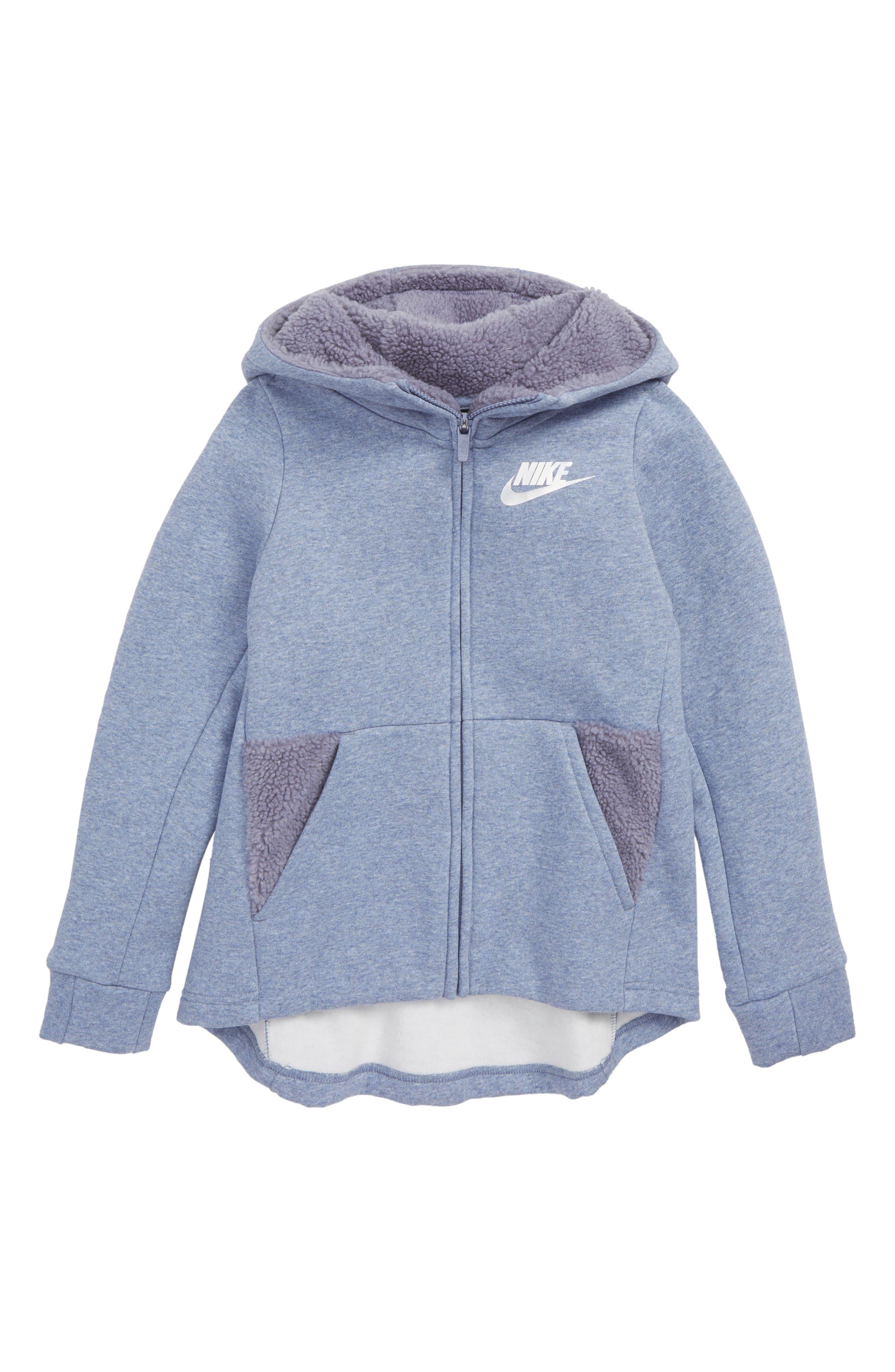 Sportswear Zip Hoodie,                             Main thumbnail 1, color,                             ASHEN SLATE/ HTR
