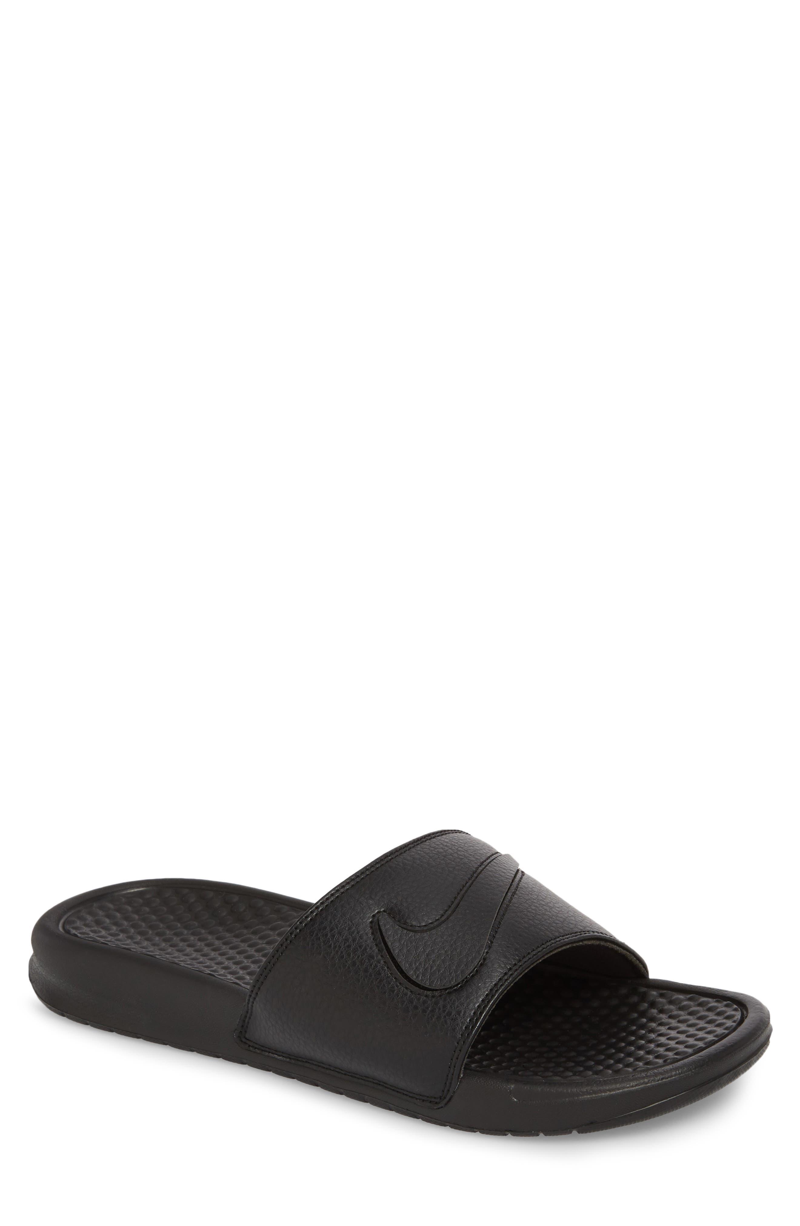 NIKE Benassi JDI Customizable Slide Sandal, Main, color, 001