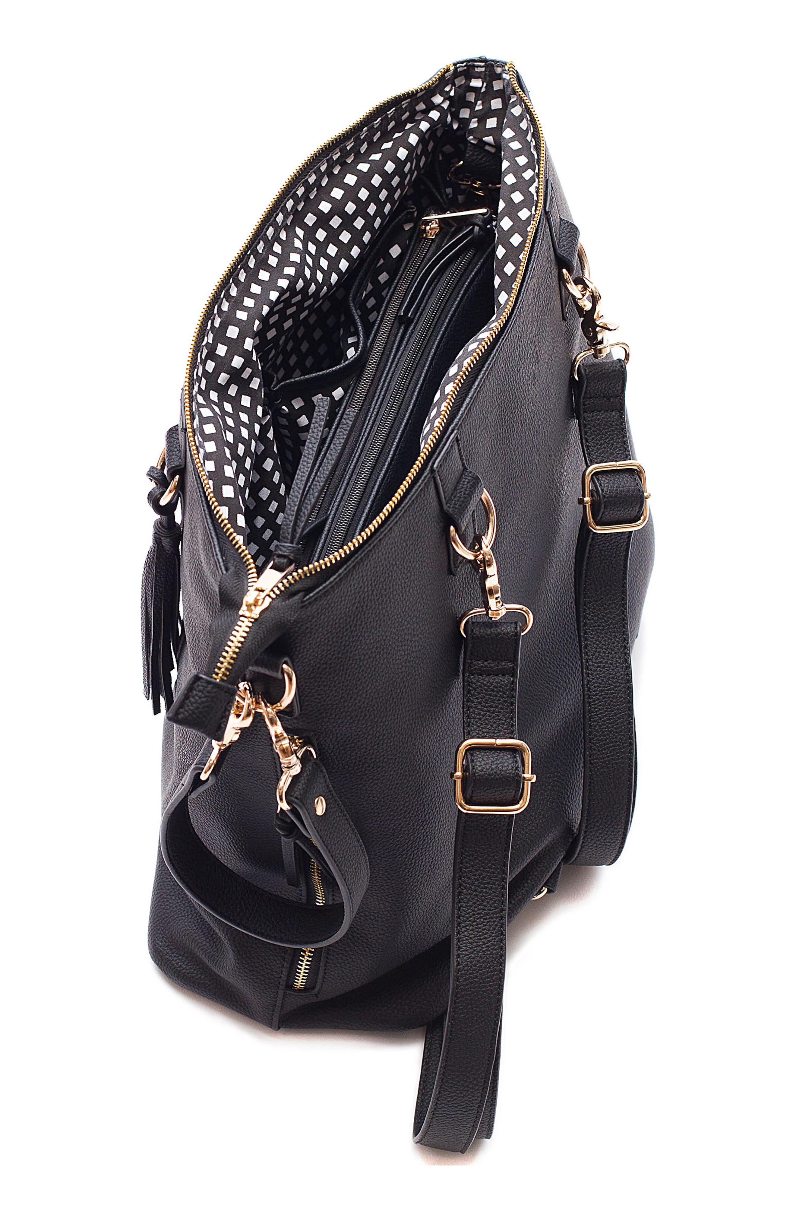Boss Convertible Diaper Backpack,                             Alternate thumbnail 3, color,                             BLACK