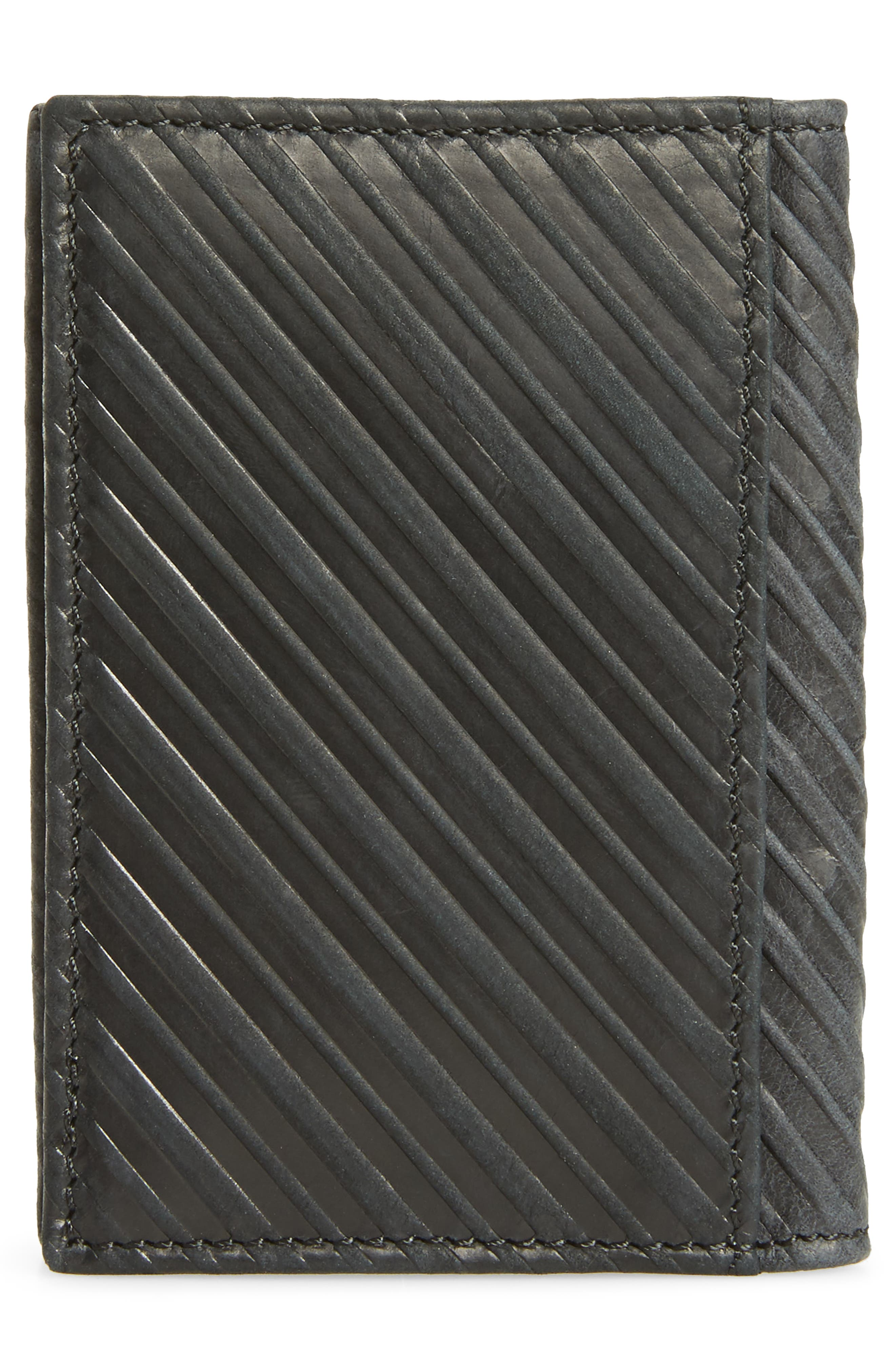 Bifold Leather Card Case,                             Alternate thumbnail 3, color,                             001