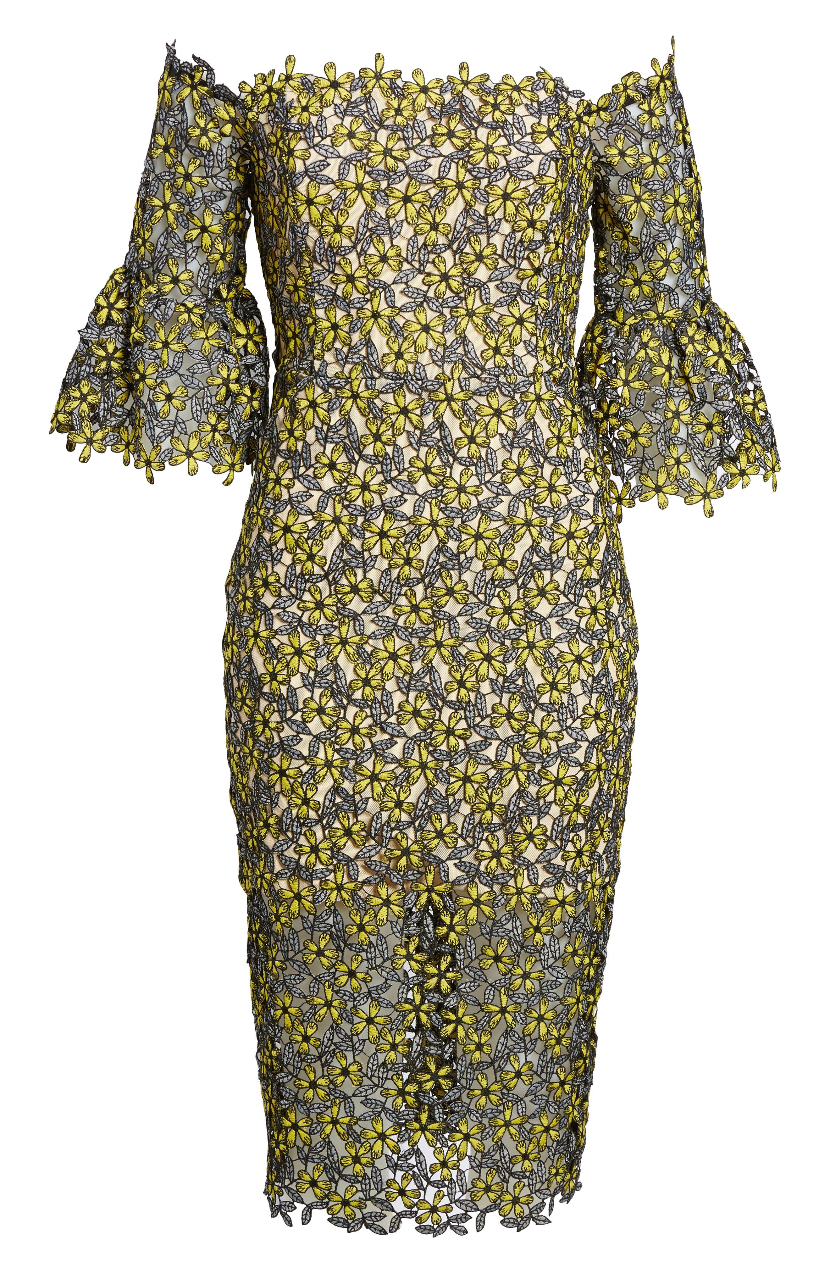 Eden Off the Shoulder Lace Dress,                             Alternate thumbnail 6, color,                             700