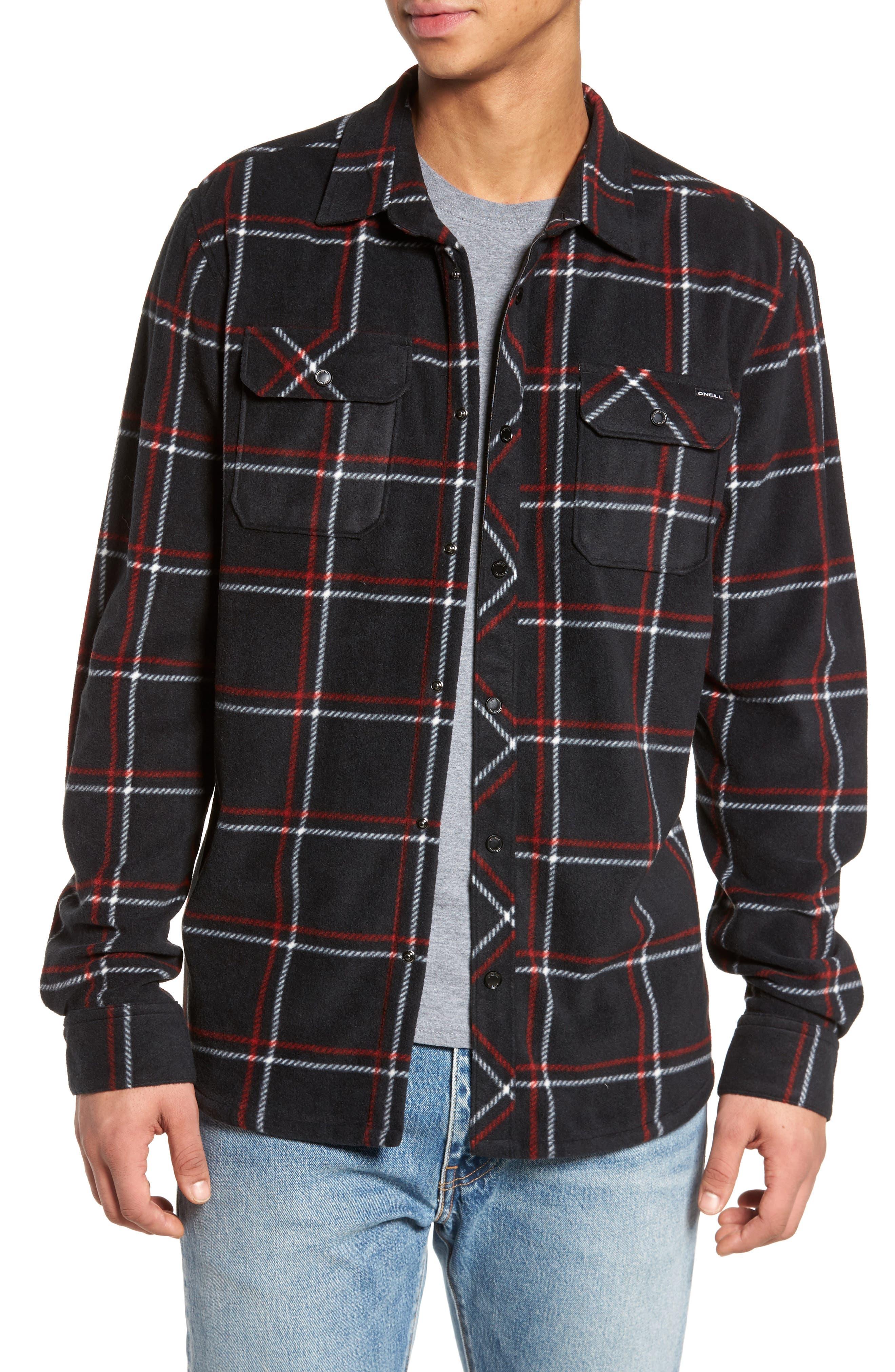Glacier Series Fleece Shirt,                         Main,                         color, 001