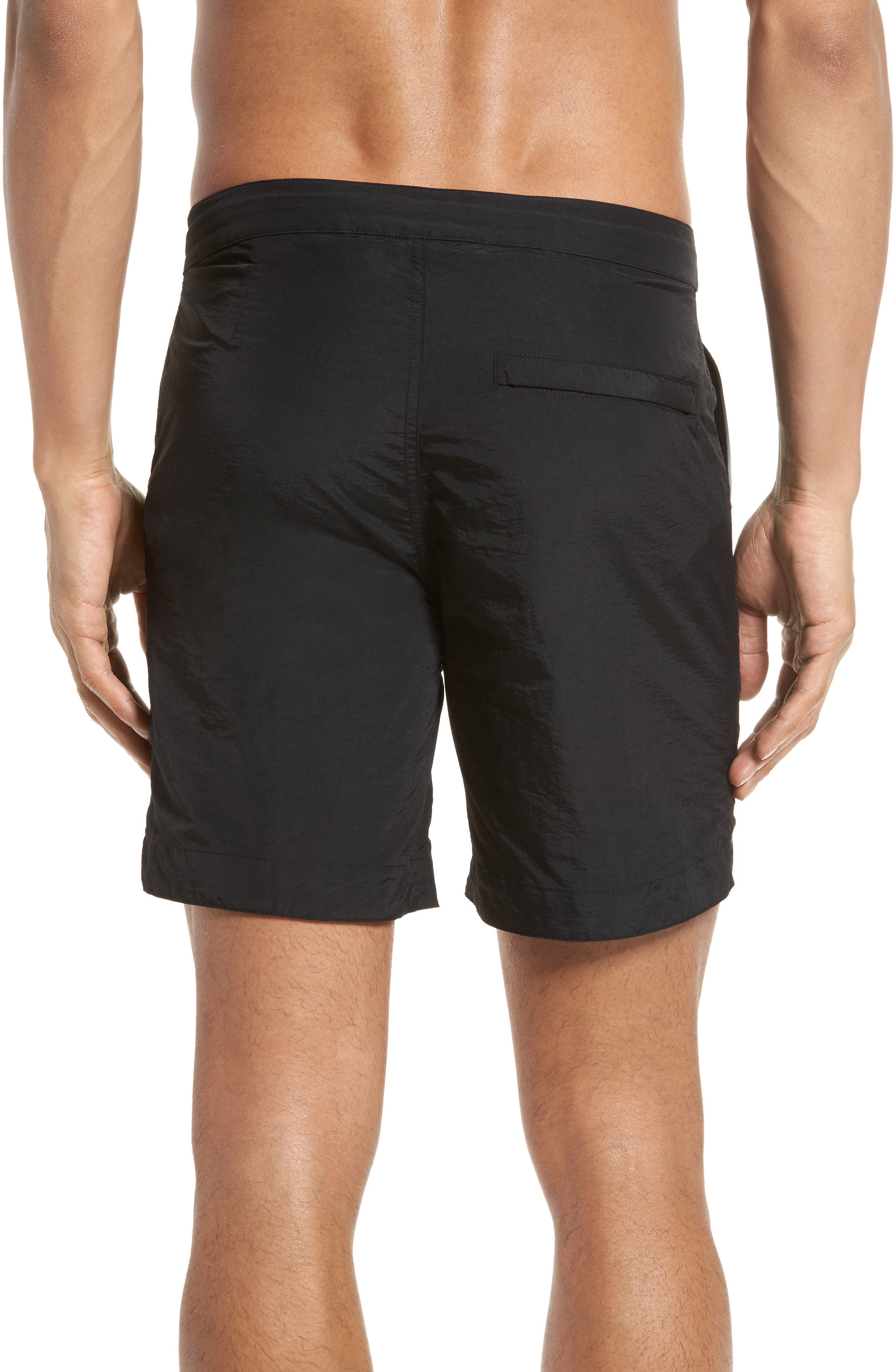 Rio Regular Fit Swim Trunks,                             Alternate thumbnail 2, color,                             001