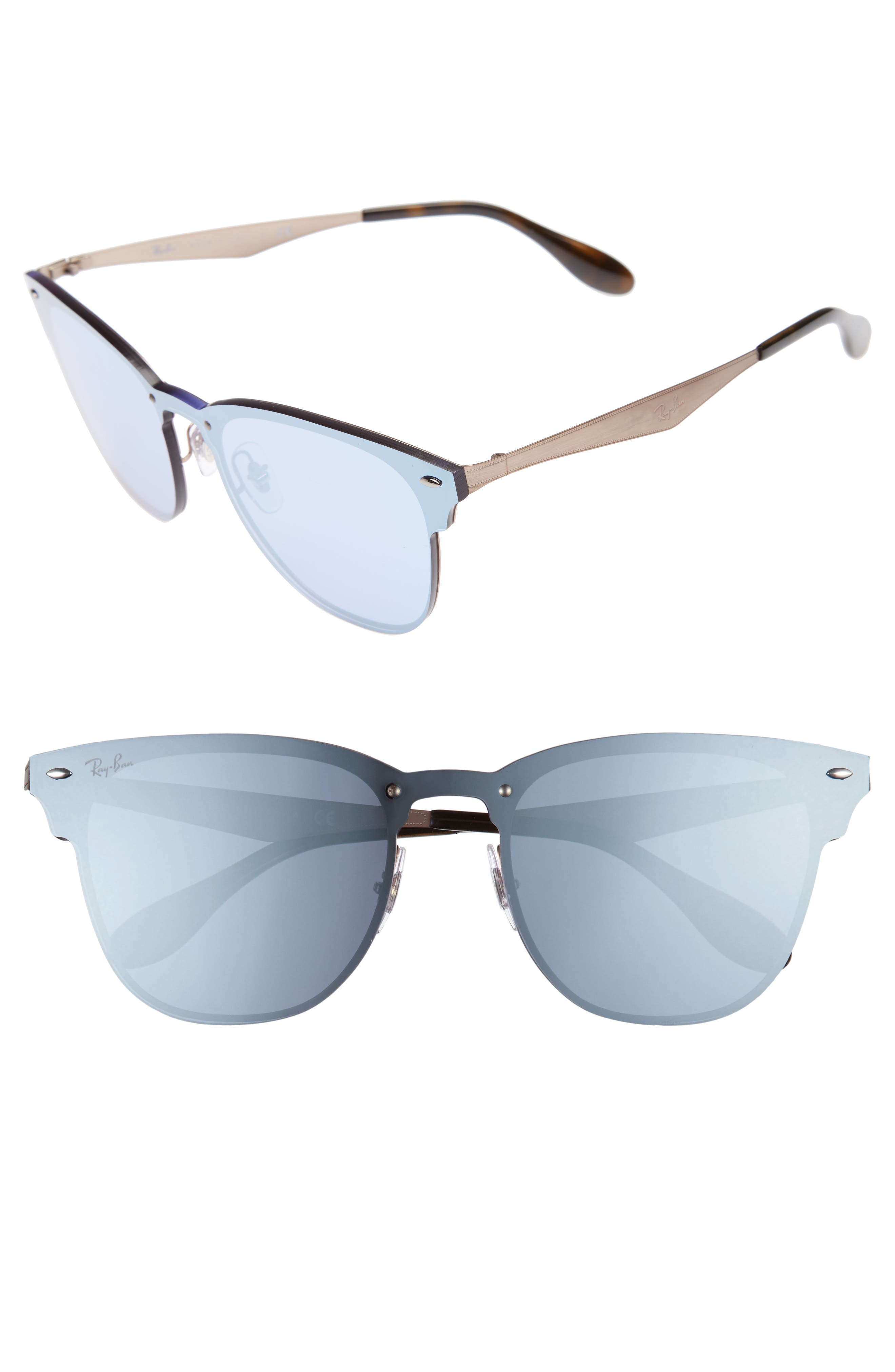 50mm Round Clubmaster Sunglasses,                             Main thumbnail 2, color,