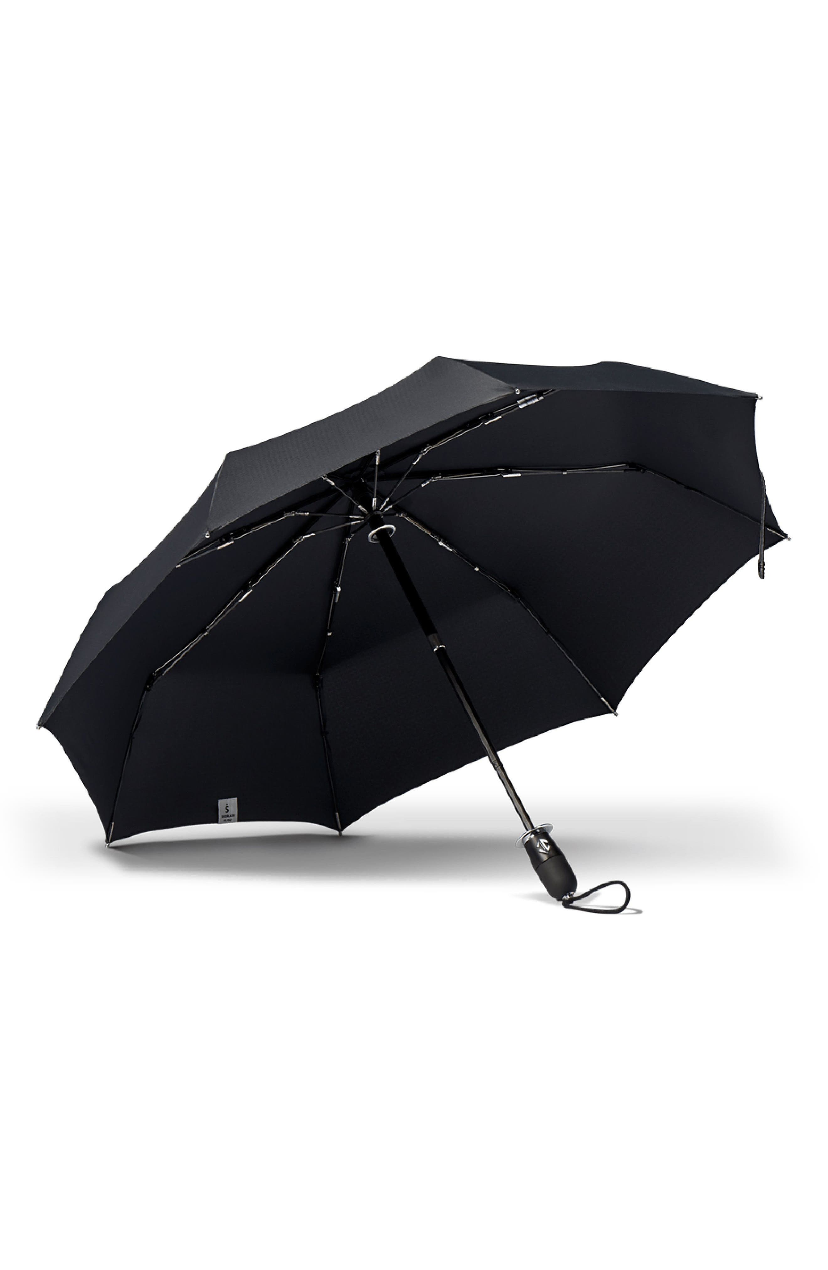 Stratus Auto Open Stick Umbrella,                             Alternate thumbnail 2, color,                             001