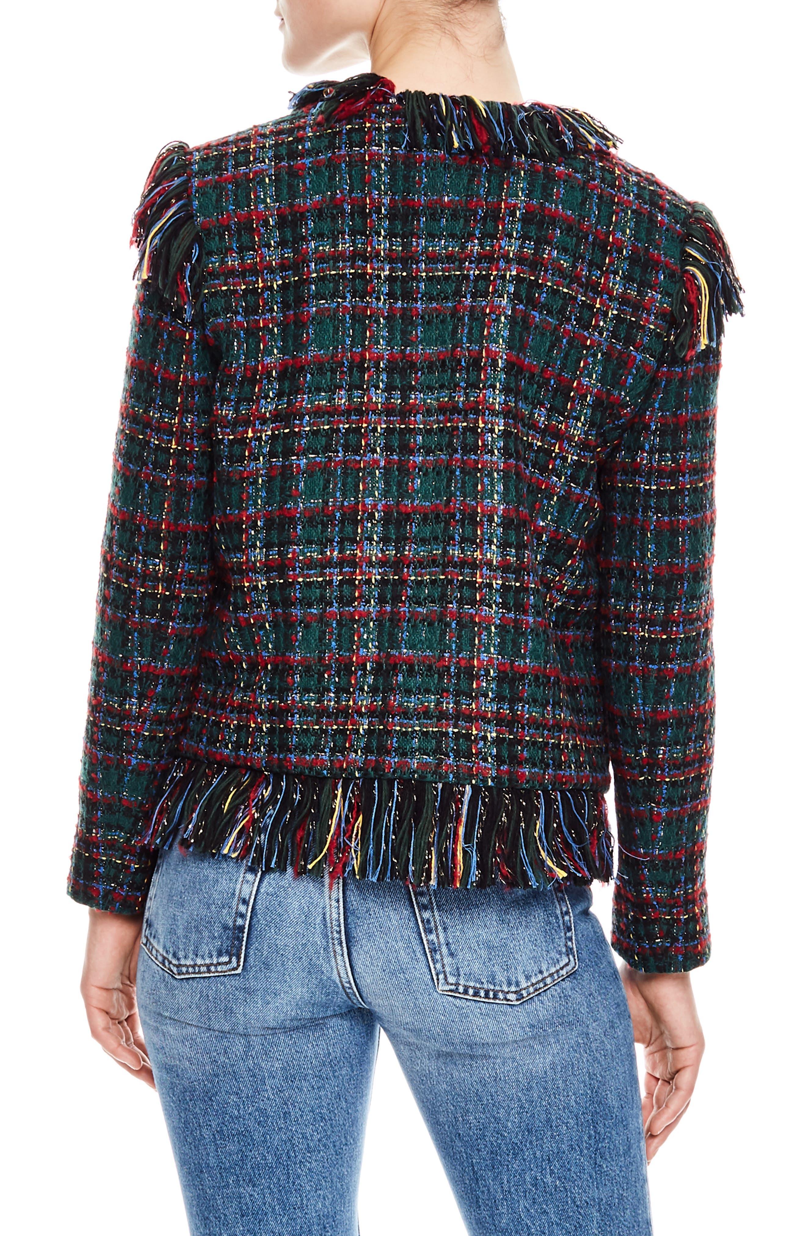 Pumba Plaid Tweed Jacket,                             Alternate thumbnail 2, color,                             MULTI-COLOR