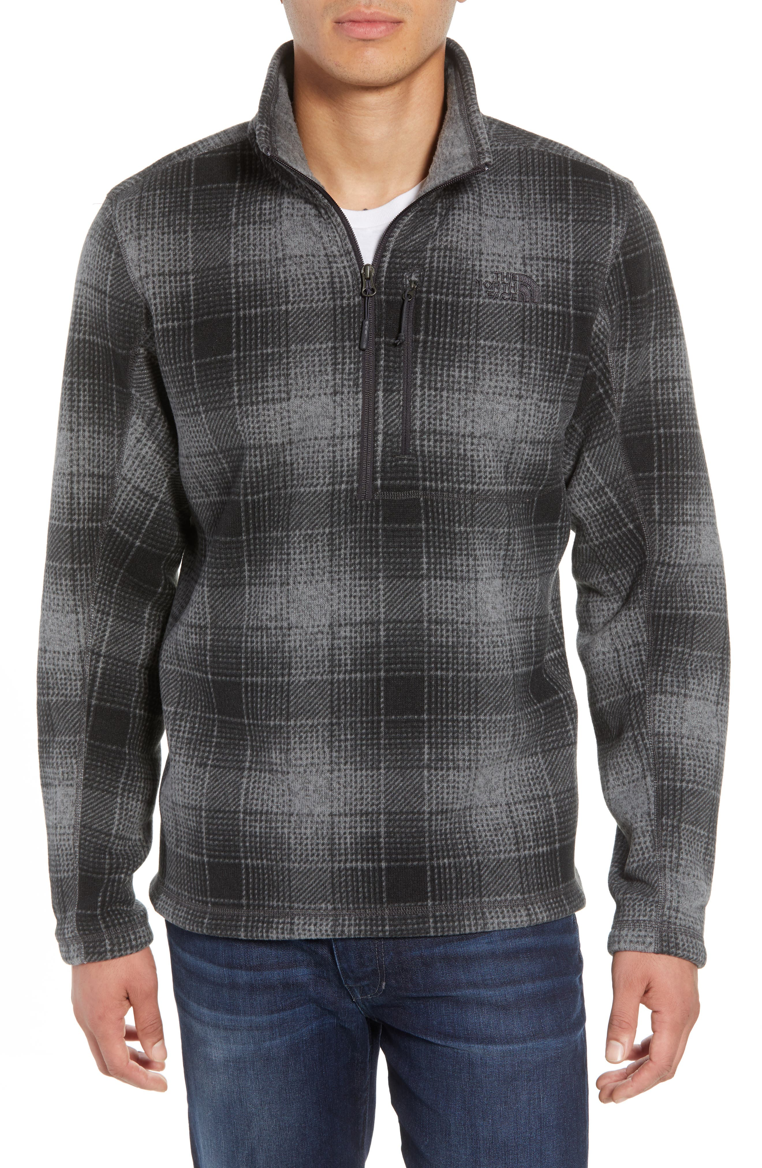 Novelty Gordon Lyons Plaid Pullover,                             Main thumbnail 1, color,                             MONUMENT GREY OMBRE PLAID