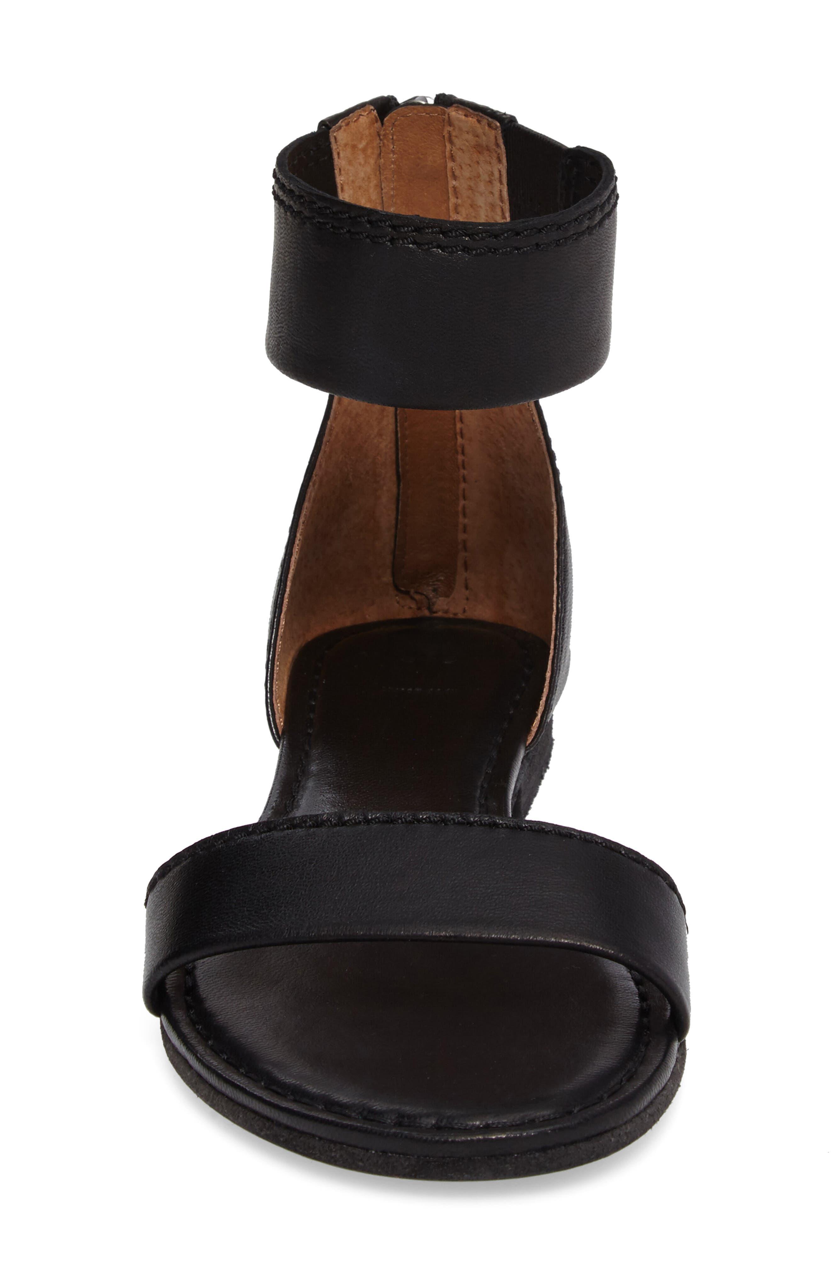 Carson Ankle Strap Sandal,                             Alternate thumbnail 4, color,                             001