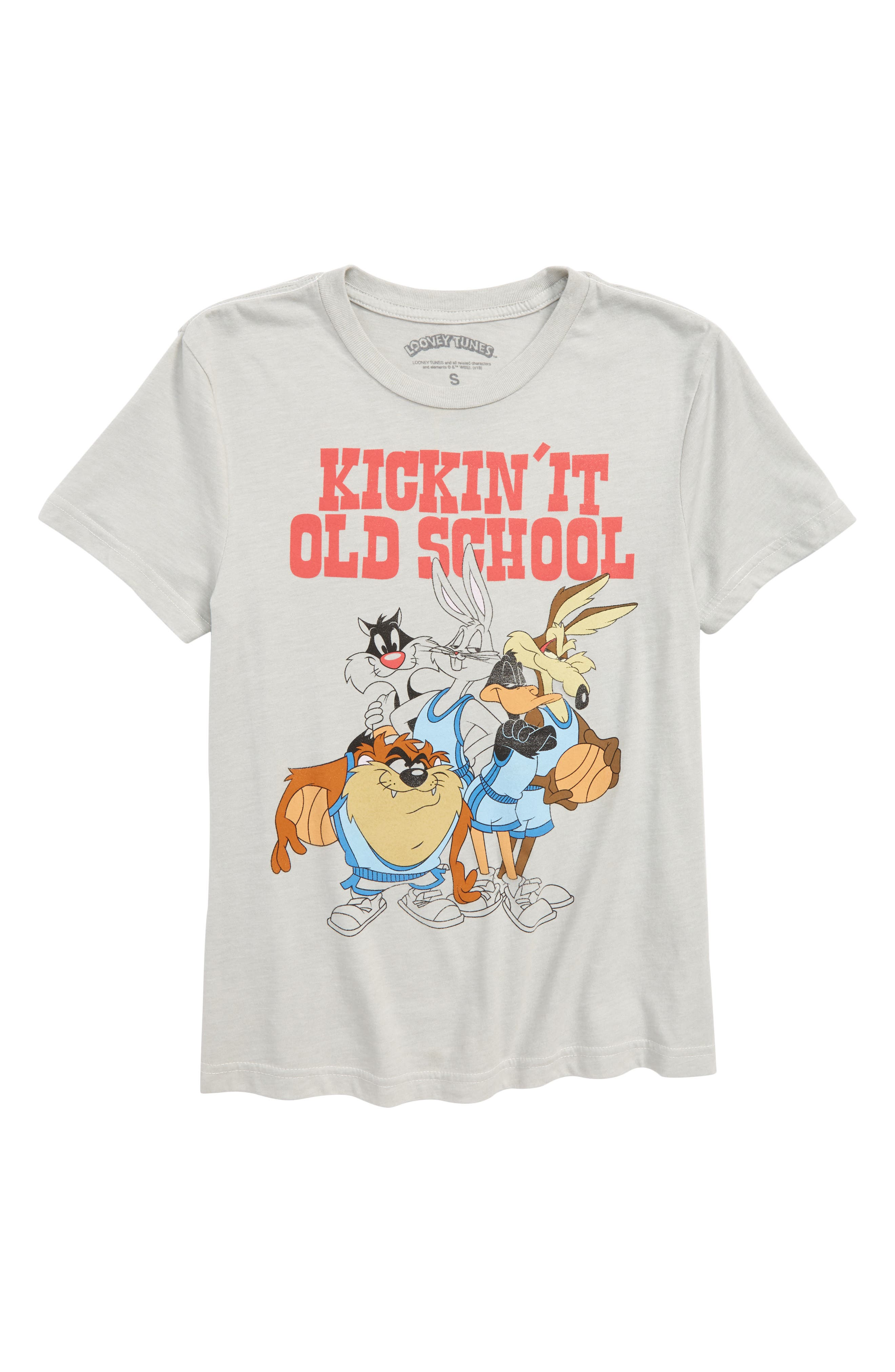 Looney Tunes Kickin' It Graphic T-Shirt,                         Main,                         color, 020