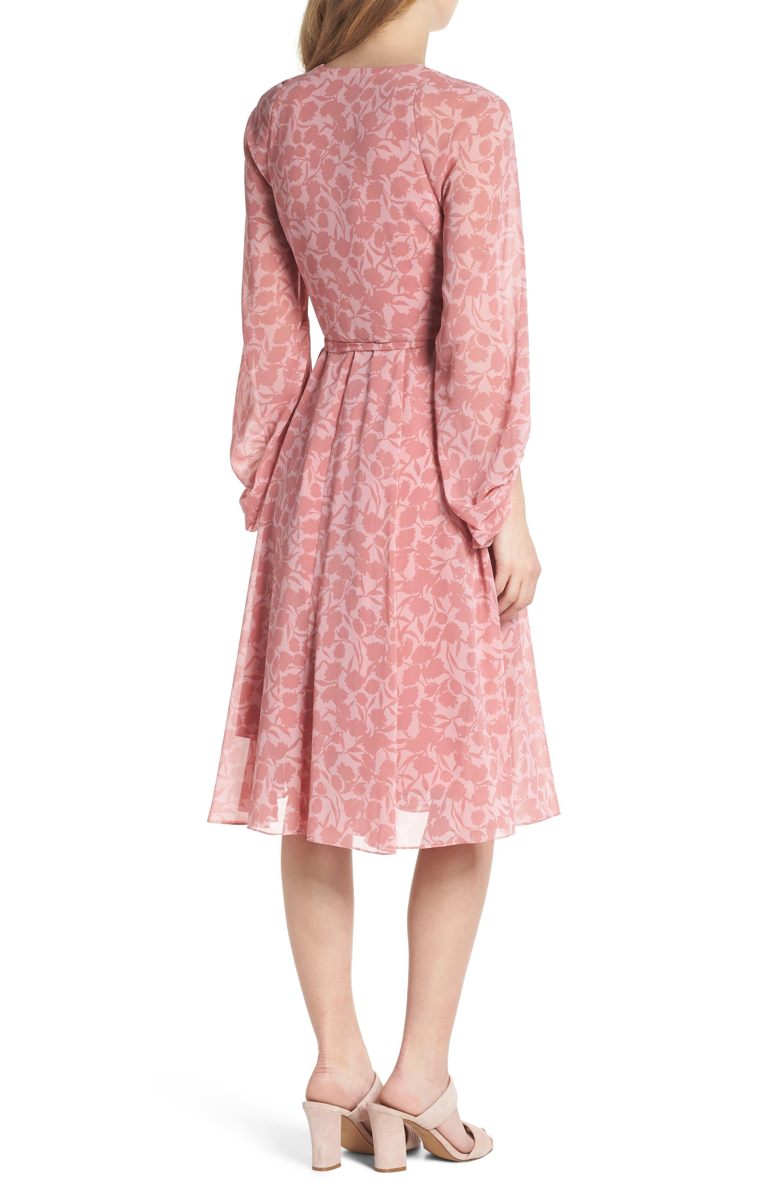 Esther Shadow Branch Chiffon Dress,                             Alternate thumbnail 2, color,                             690