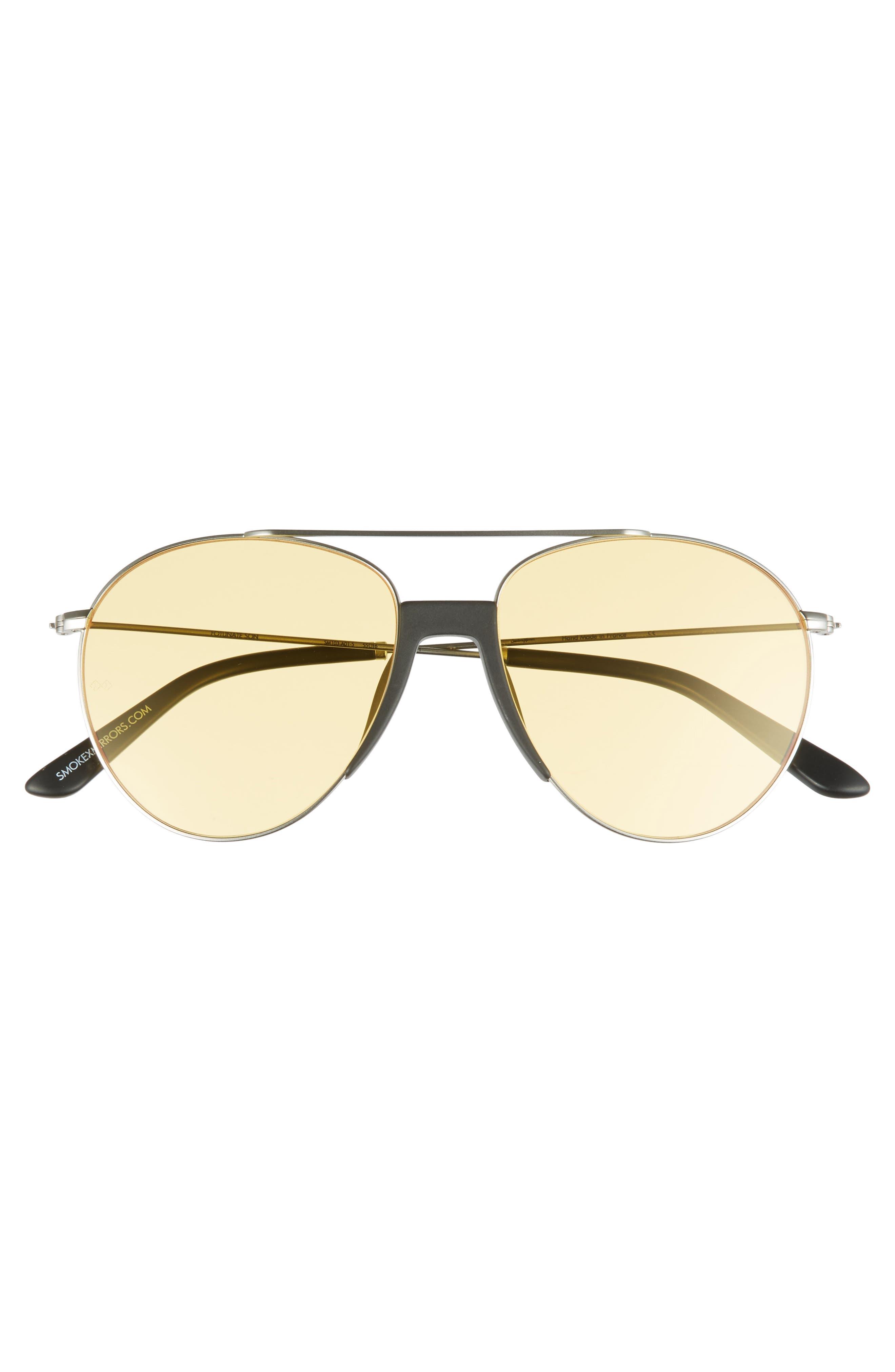 Fortunate Son 53mm Aviator Sunglasses,                             Alternate thumbnail 2, color,                             001