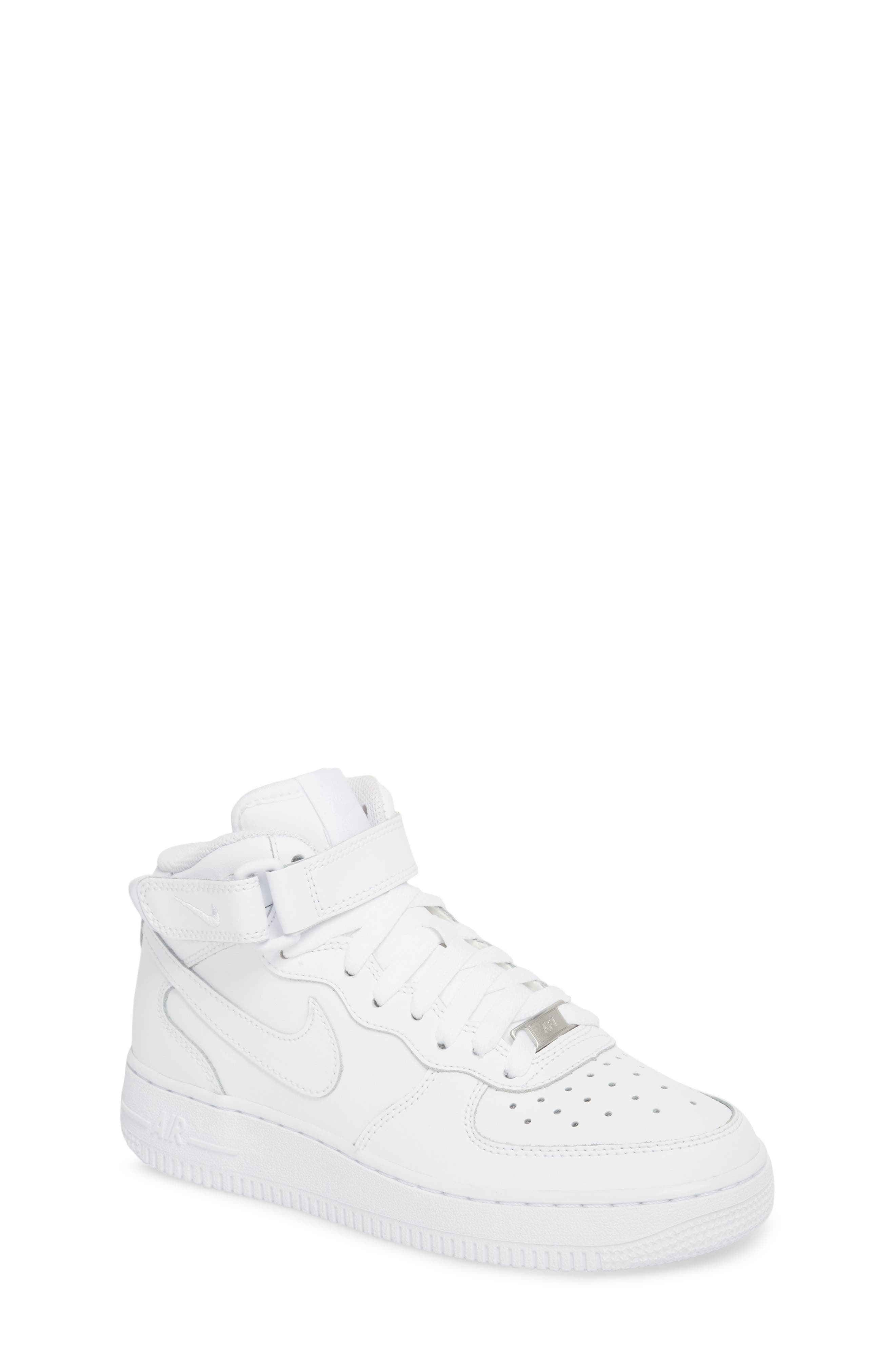 Air Force 1 Mid Top Sneaker,                         Main,                         color, WHITE