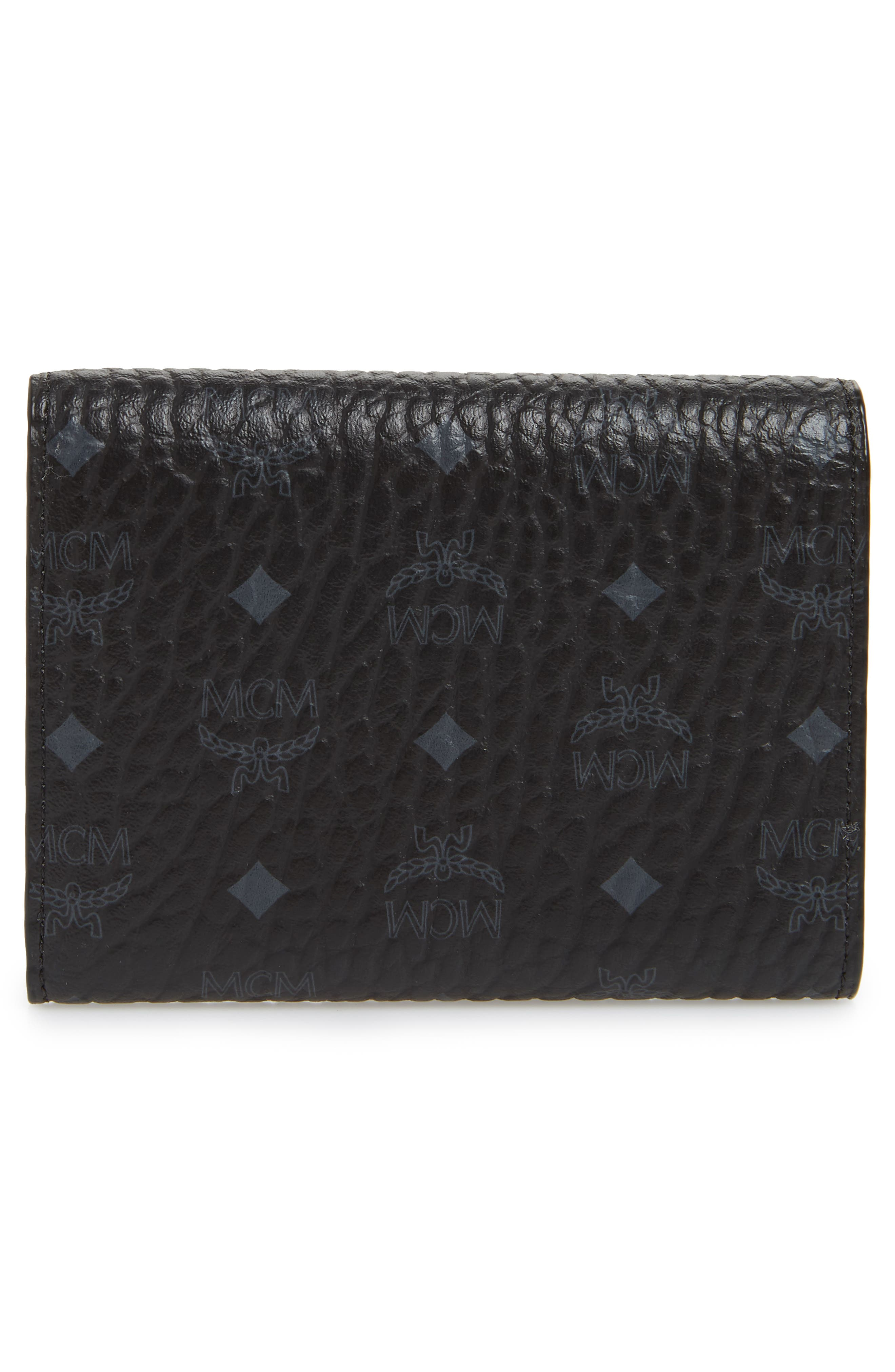 Original Small Visetos Trifold Wallet,                             Alternate thumbnail 4, color,                             BLACK