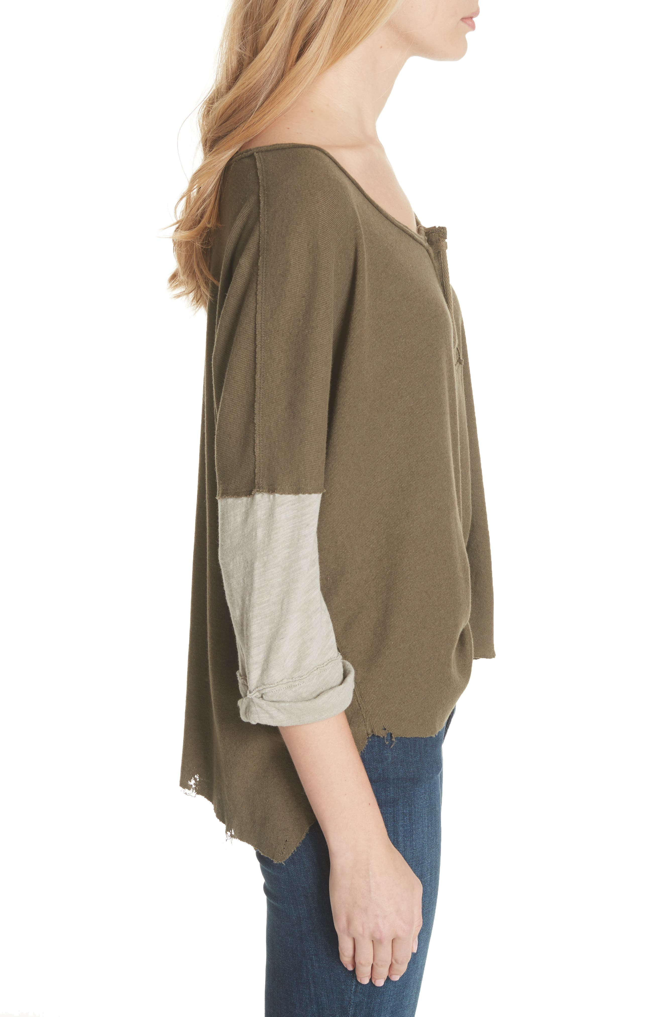 We the Free Star Henley Top,                             Alternate thumbnail 3, color,                             352