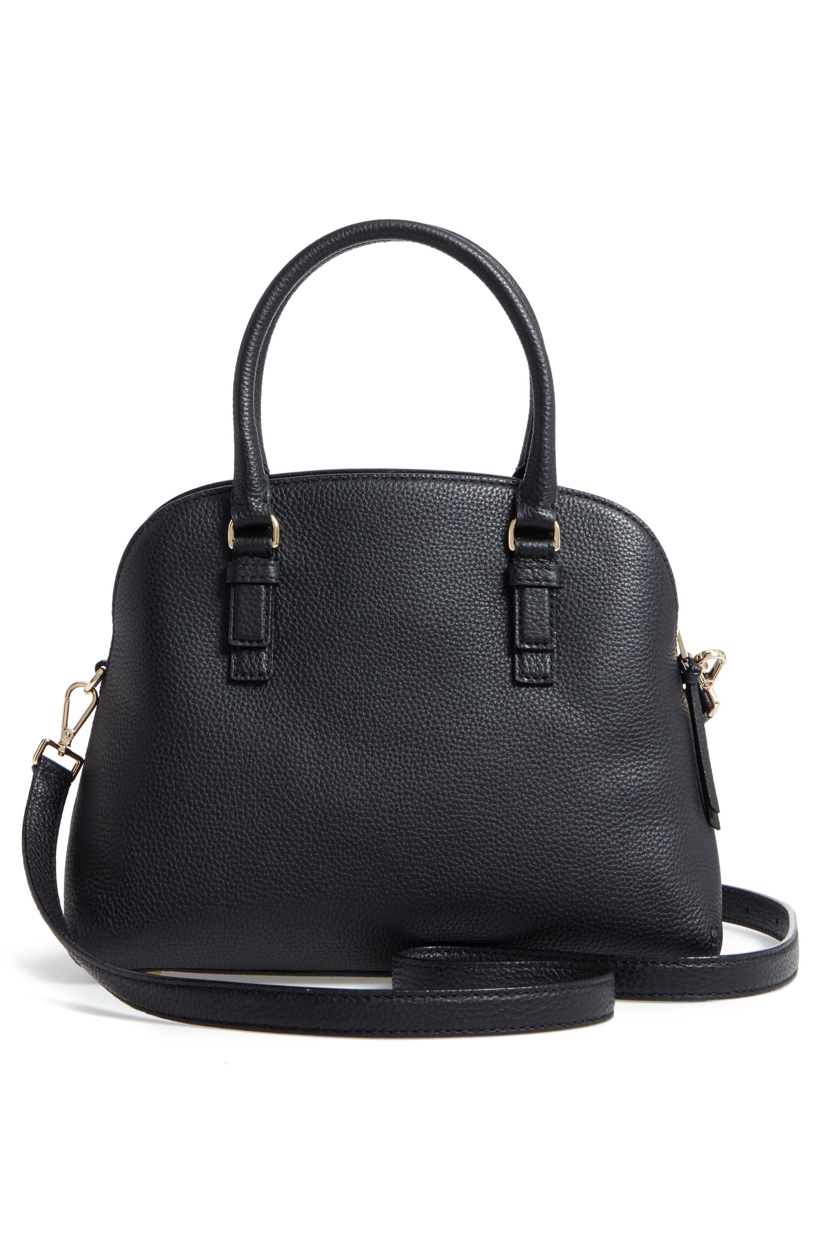 jackson street lottie leather satchel,                             Alternate thumbnail 3, color,                             001