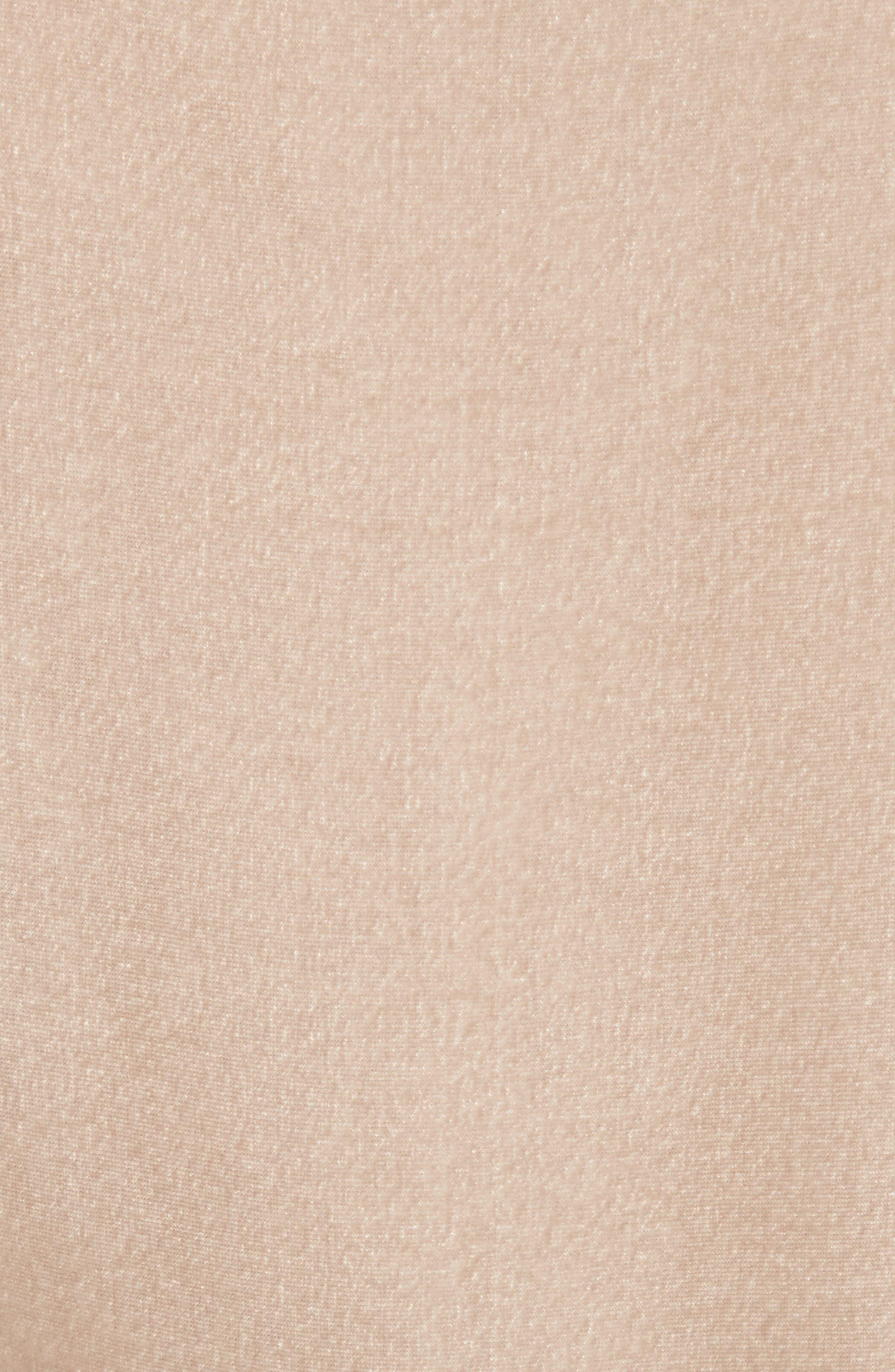 TIBI,                             Cold Shoulder Velvet Top,                             Alternate thumbnail 5, color,                             250