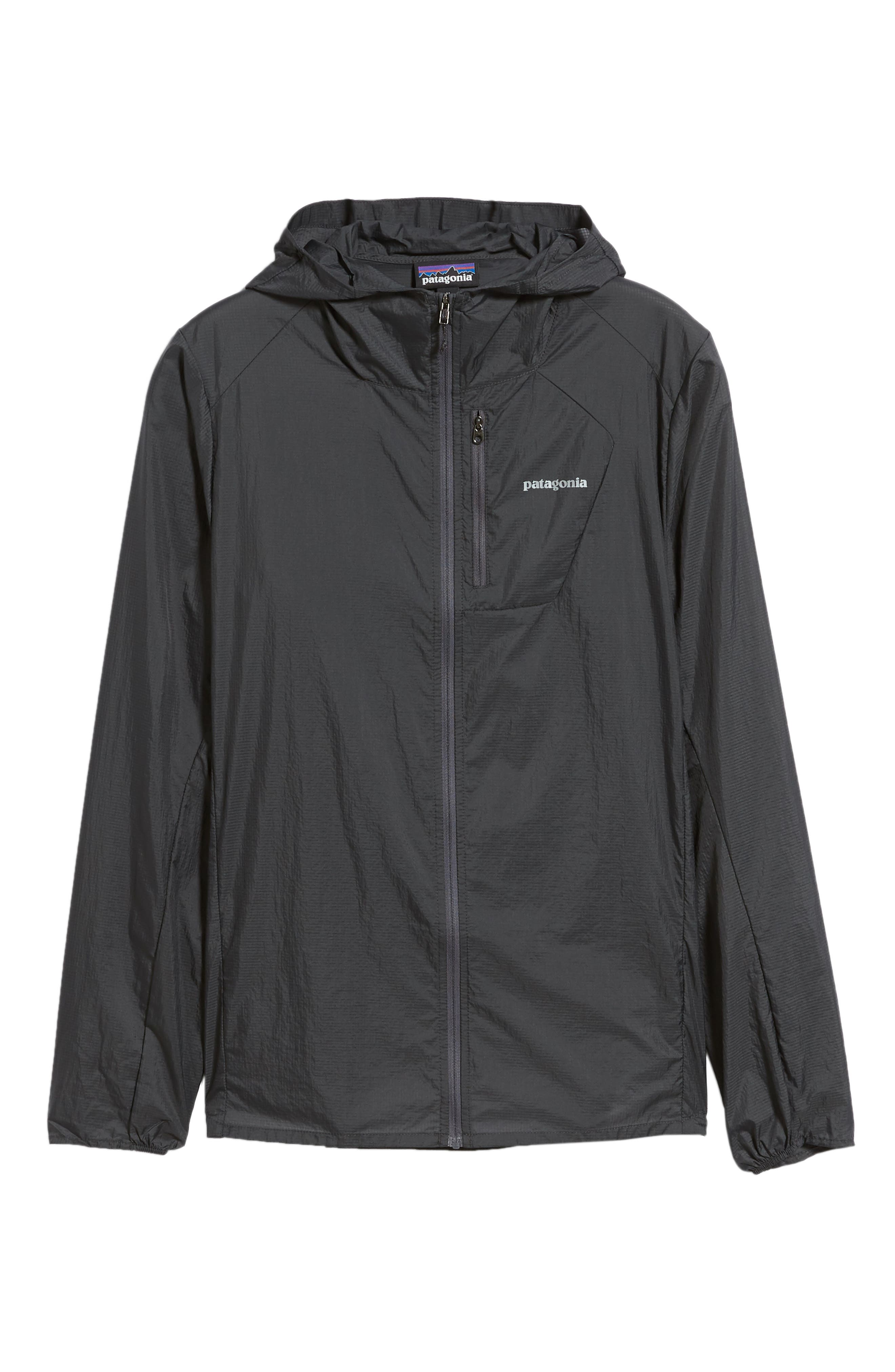 'Houdini' Slim Fit Water Repellent Hooded Jacket,                             Alternate thumbnail 6, color,                             FORGE GREY/ FORGE GREY