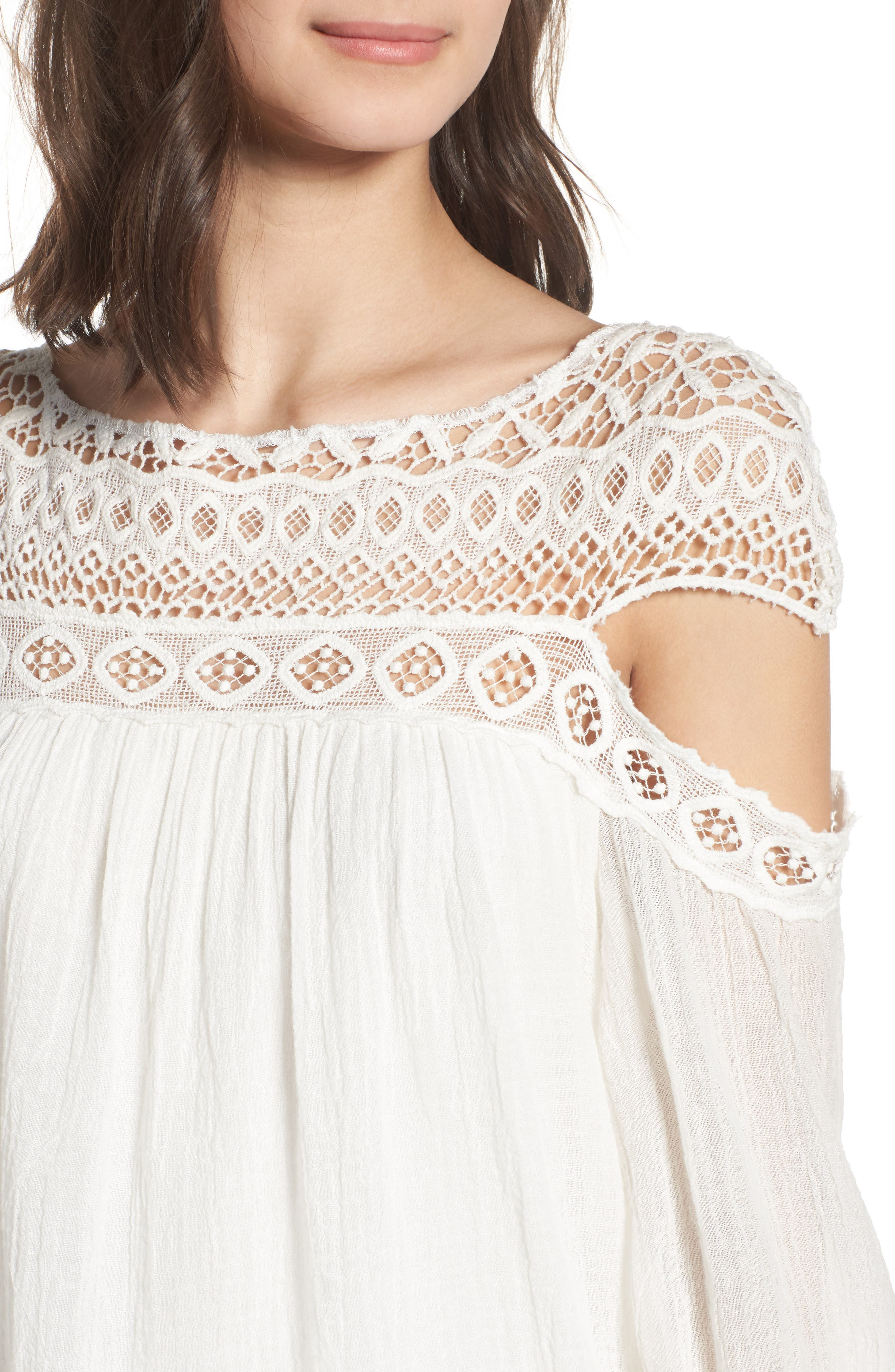 Cutout Sleeve Top,                             Alternate thumbnail 9, color,