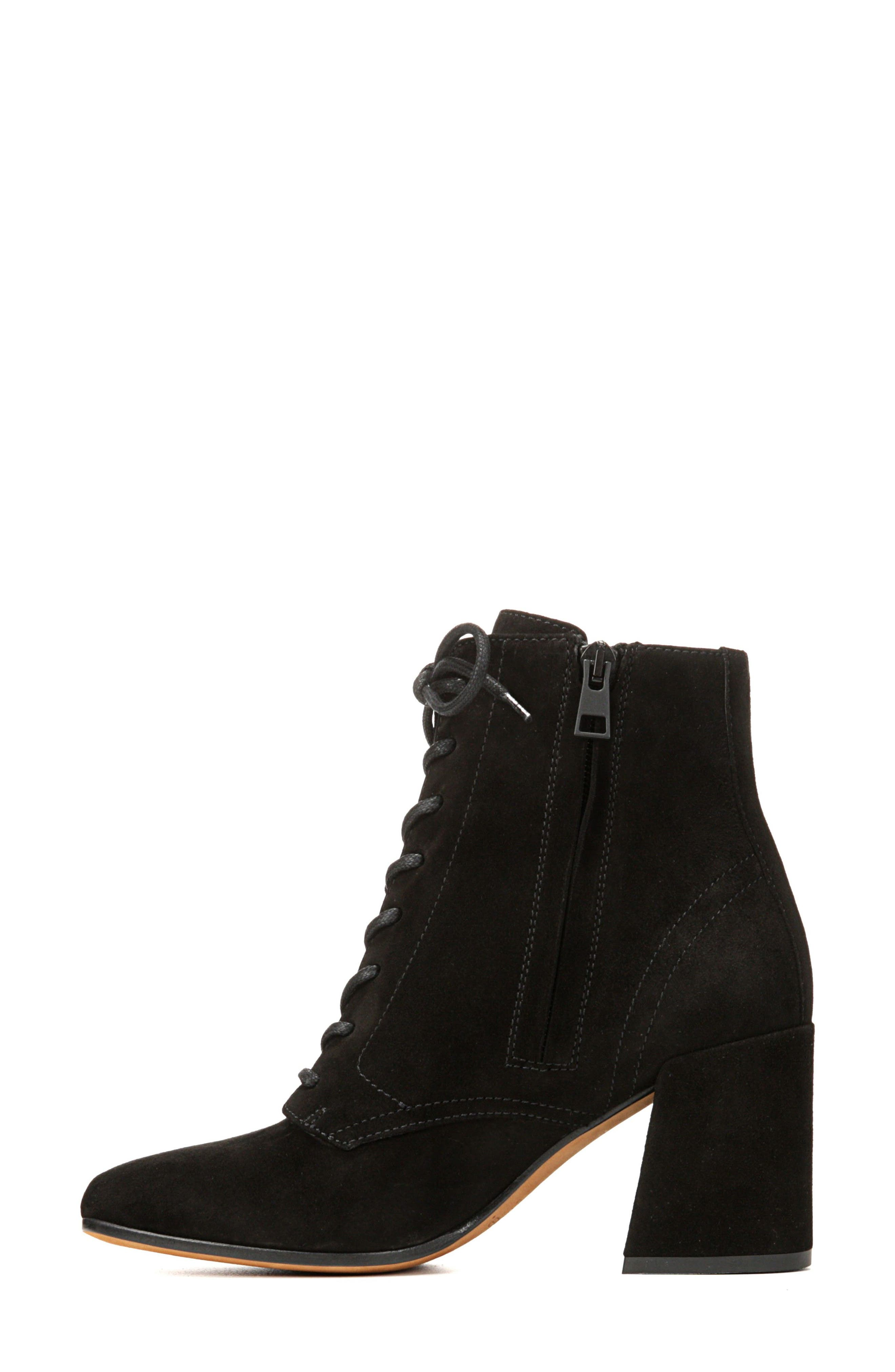 Halle Flare Heel Bootie,                             Alternate thumbnail 3, color,                             001