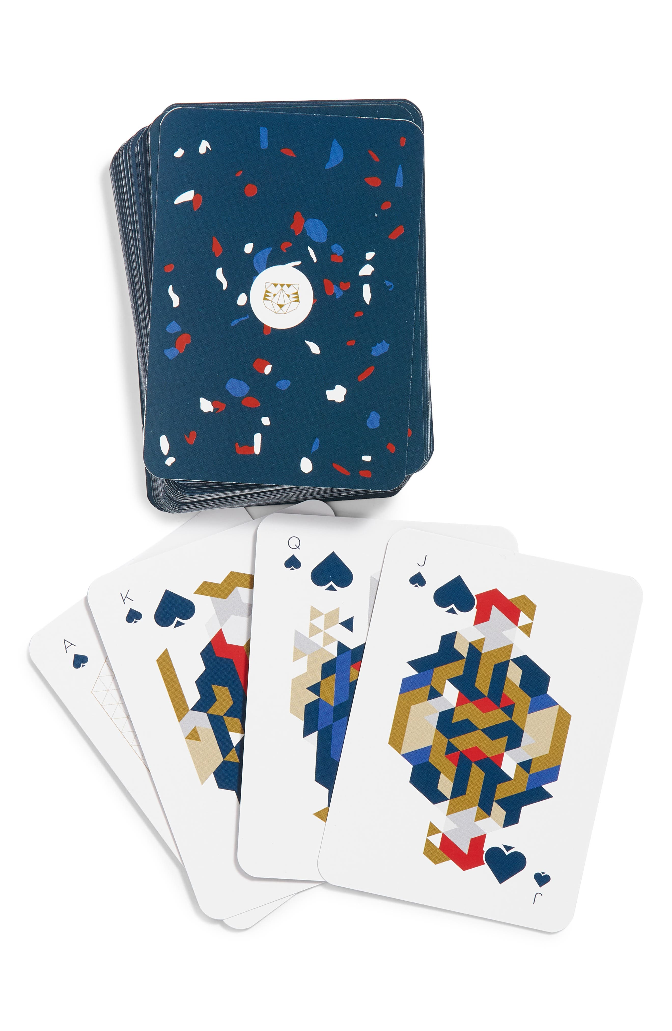 Paper Tigre Playing Cards,                             Alternate thumbnail 2, color,                             960