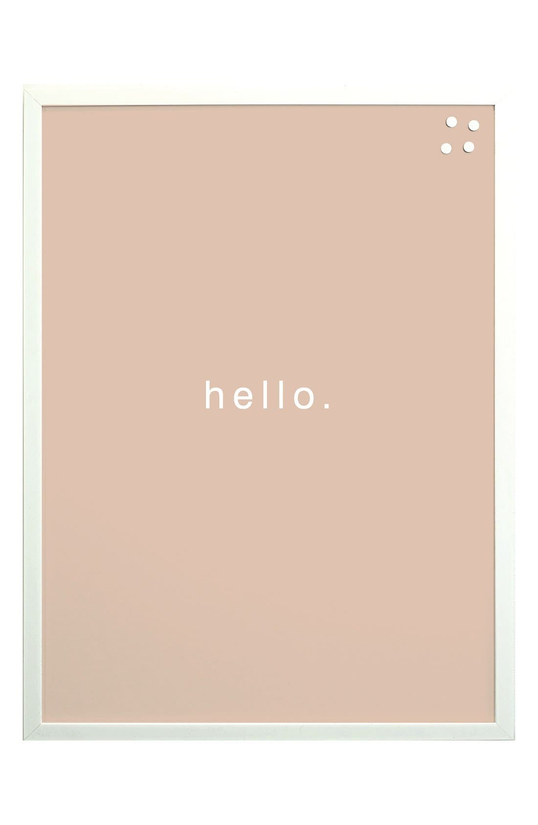 'Hello' Magnet Board,                             Main thumbnail 1, color,                             650