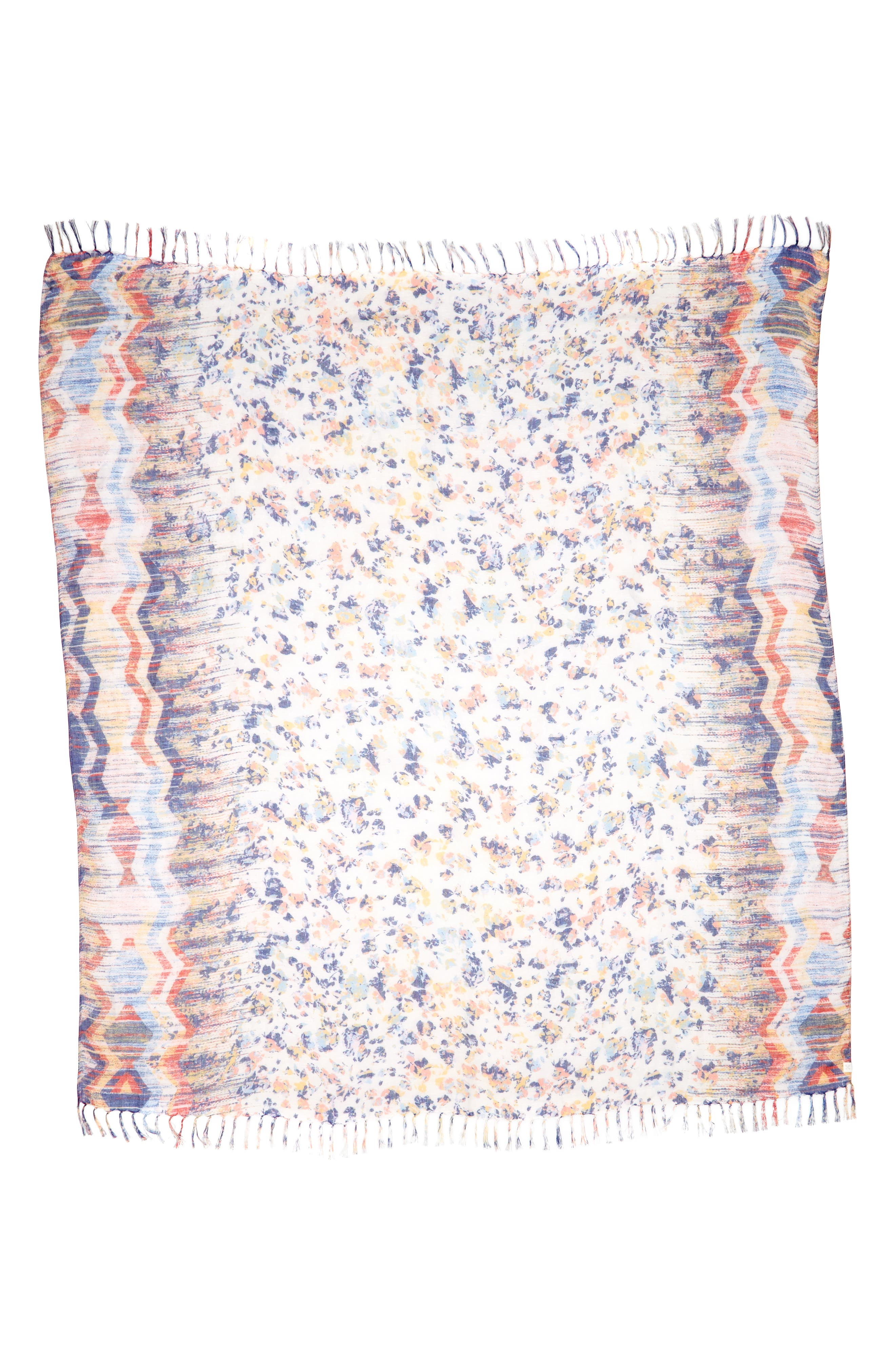 Mixed Print Scarf,                             Alternate thumbnail 3, color,                             100