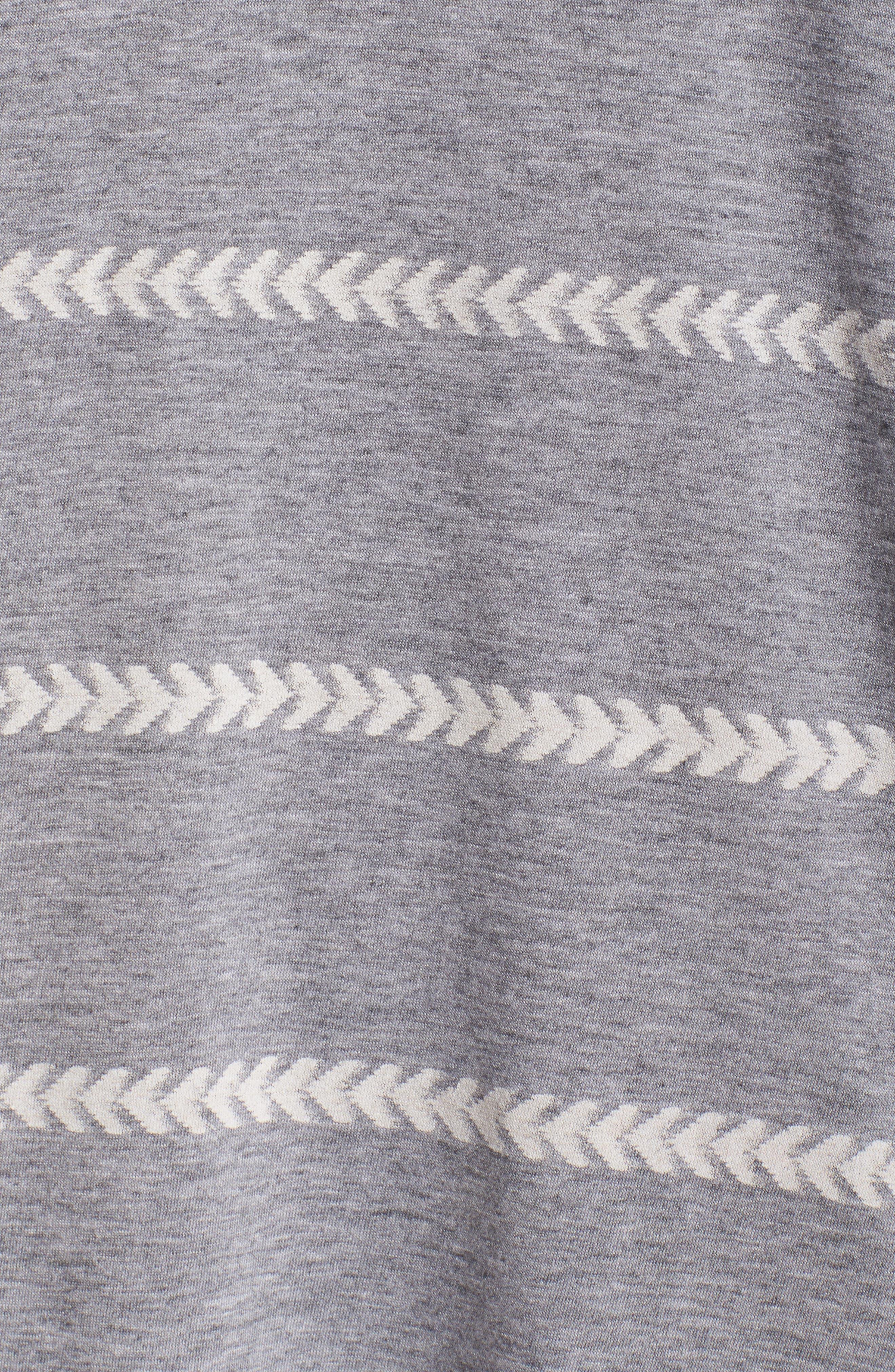 Wednesday Stripe Sleep Shirt,                             Alternate thumbnail 5, color,                             020