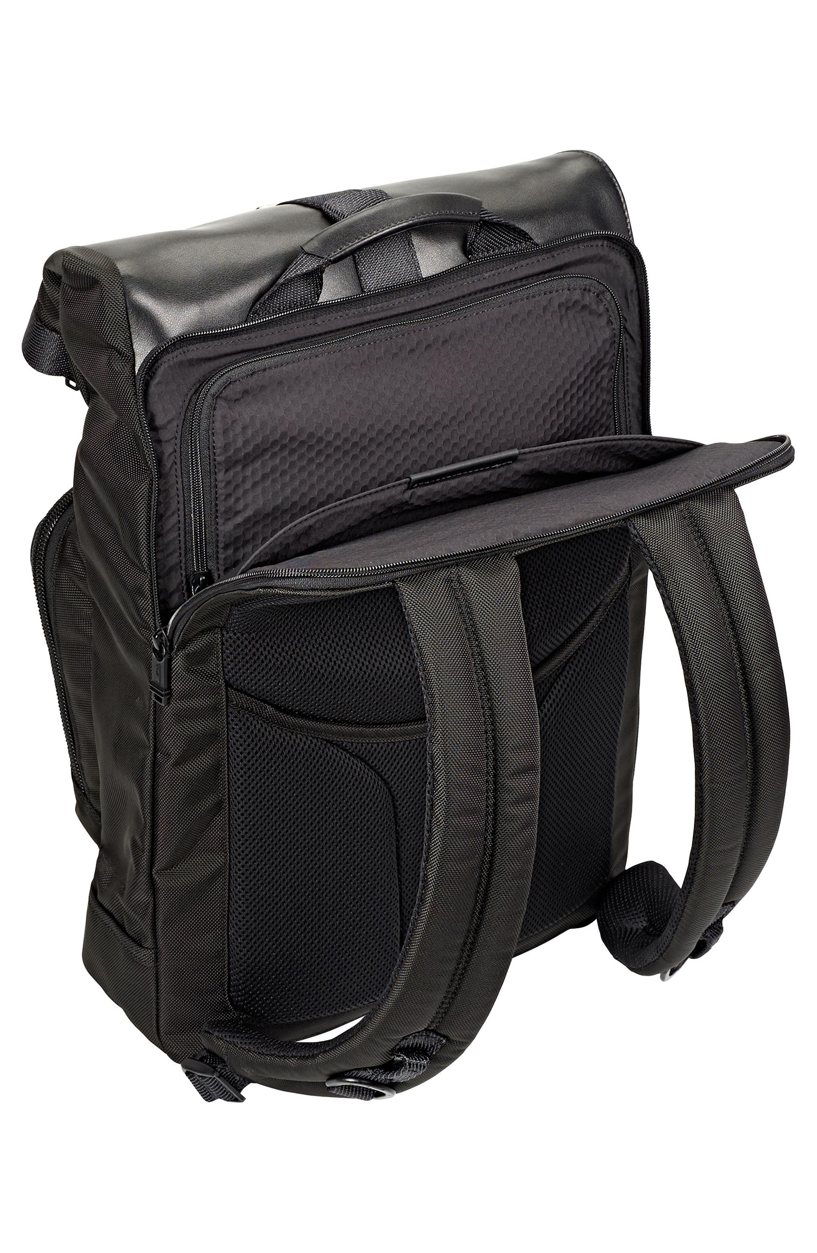 Alpha Bravo - London Backpack,                             Alternate thumbnail 4, color,                             BLACK