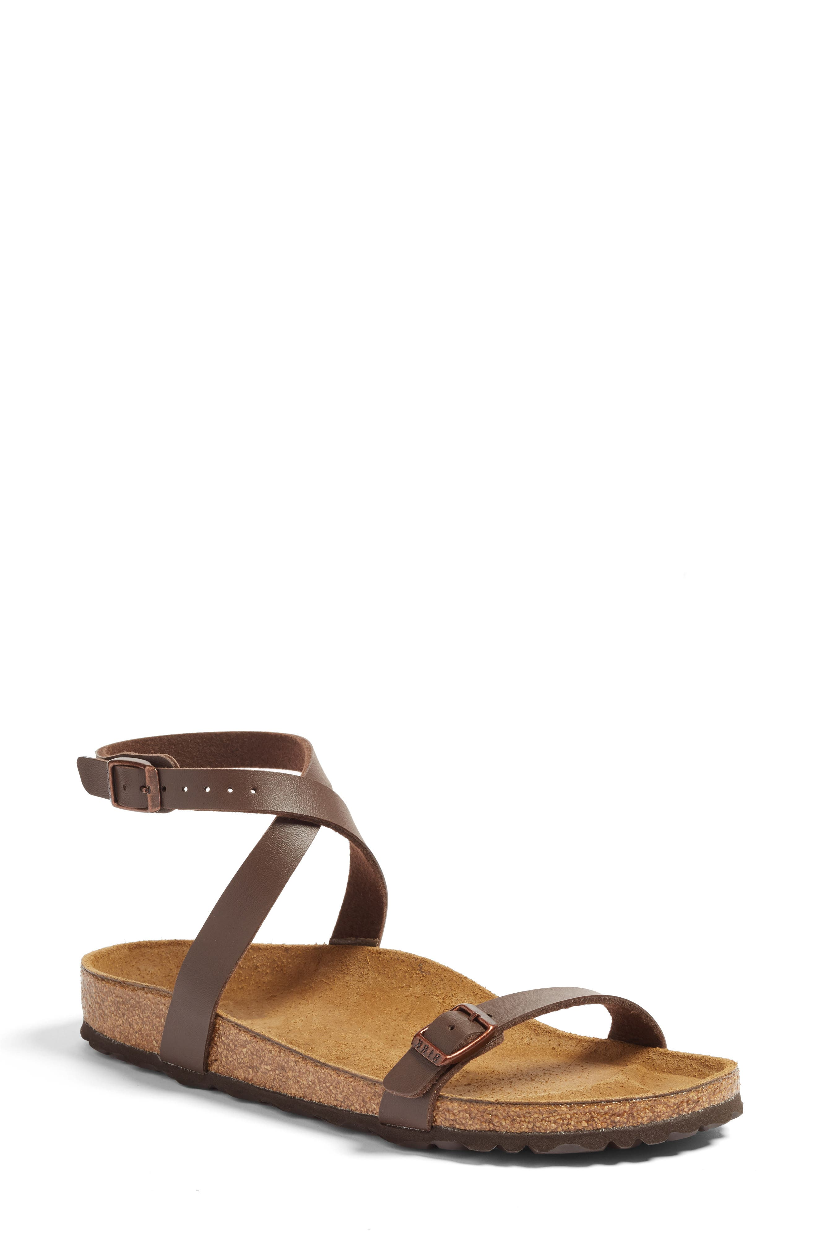 Daloa Ankle Strap Sandal,                         Main,                         color, MOCHA