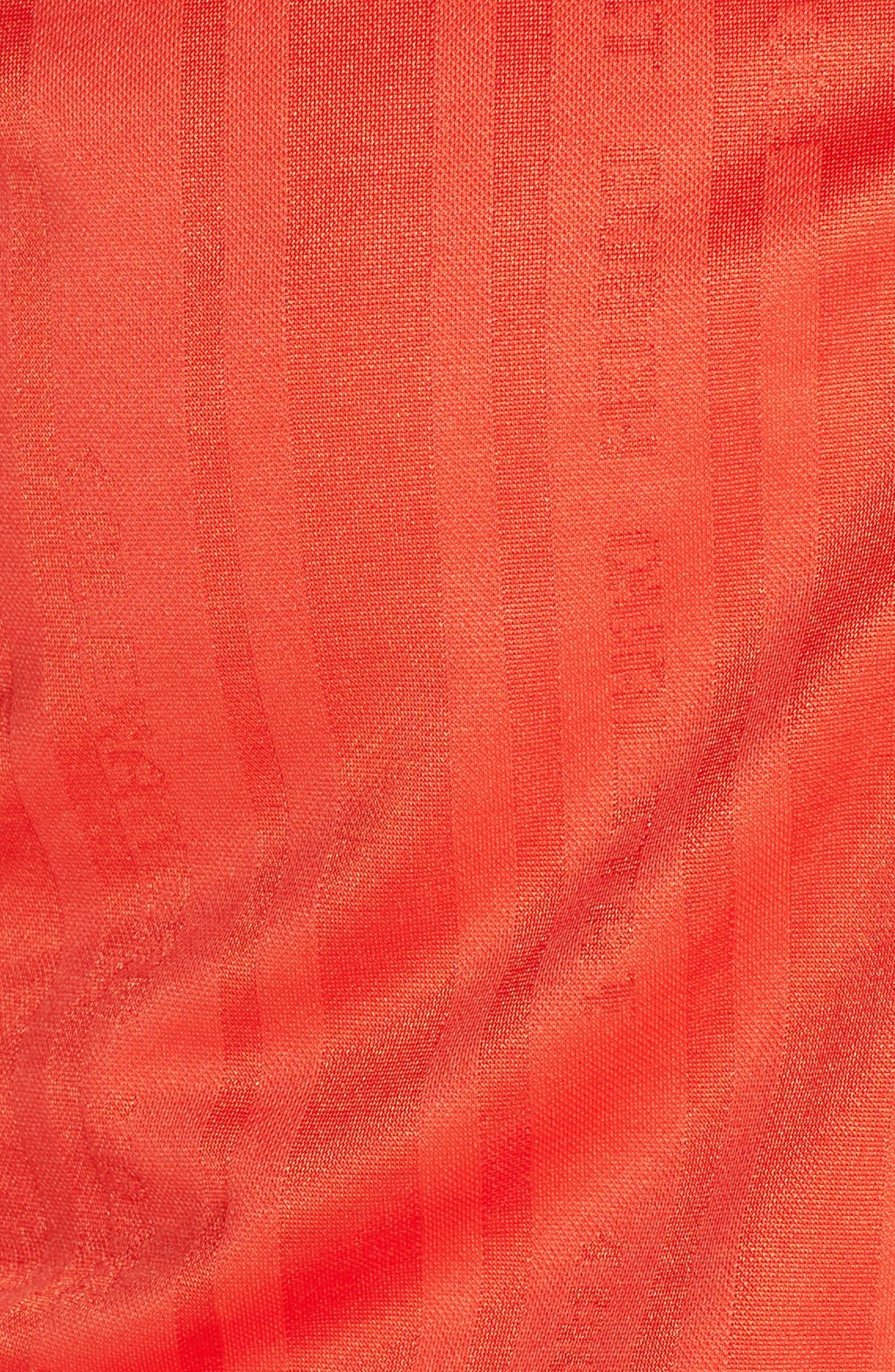 Crop Track Jacket,                             Alternate thumbnail 6, color,                             CORE RED/ BLACK