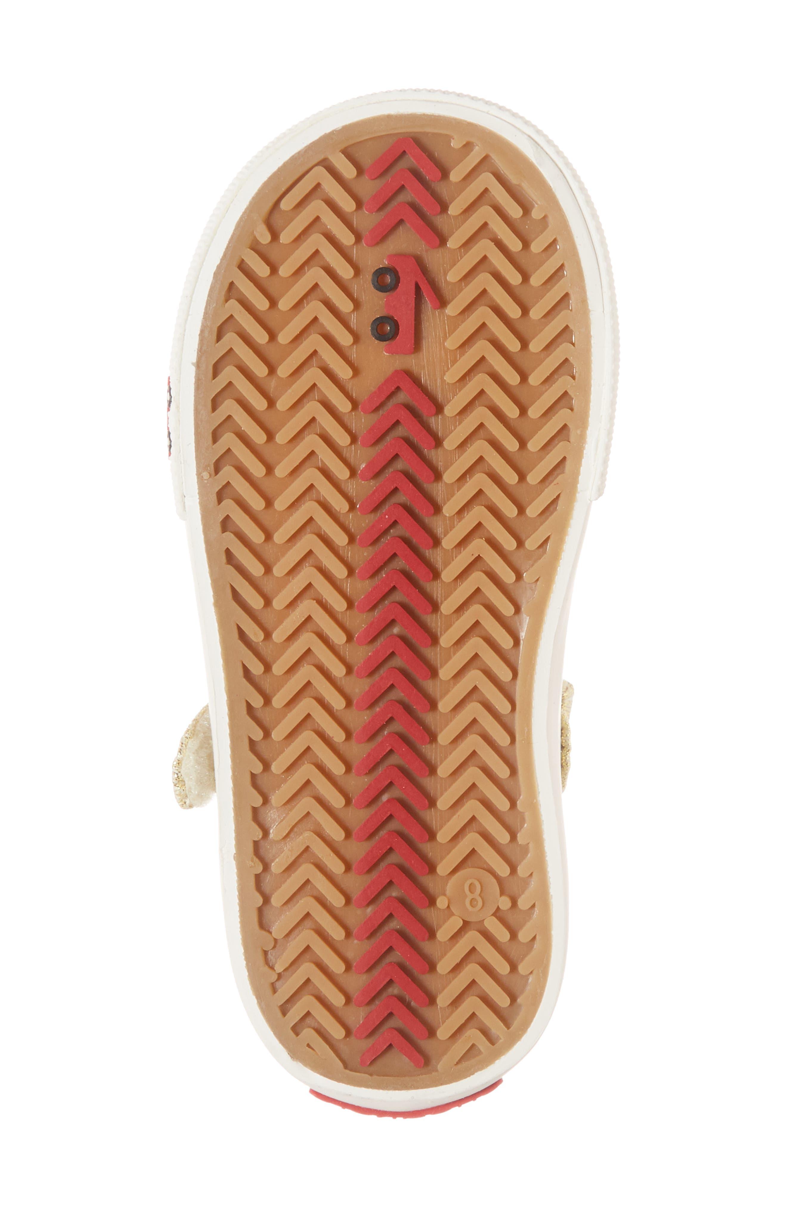 'Marie' Mary Jane Sneaker,                             Alternate thumbnail 6, color,                             METALLIC GOLD