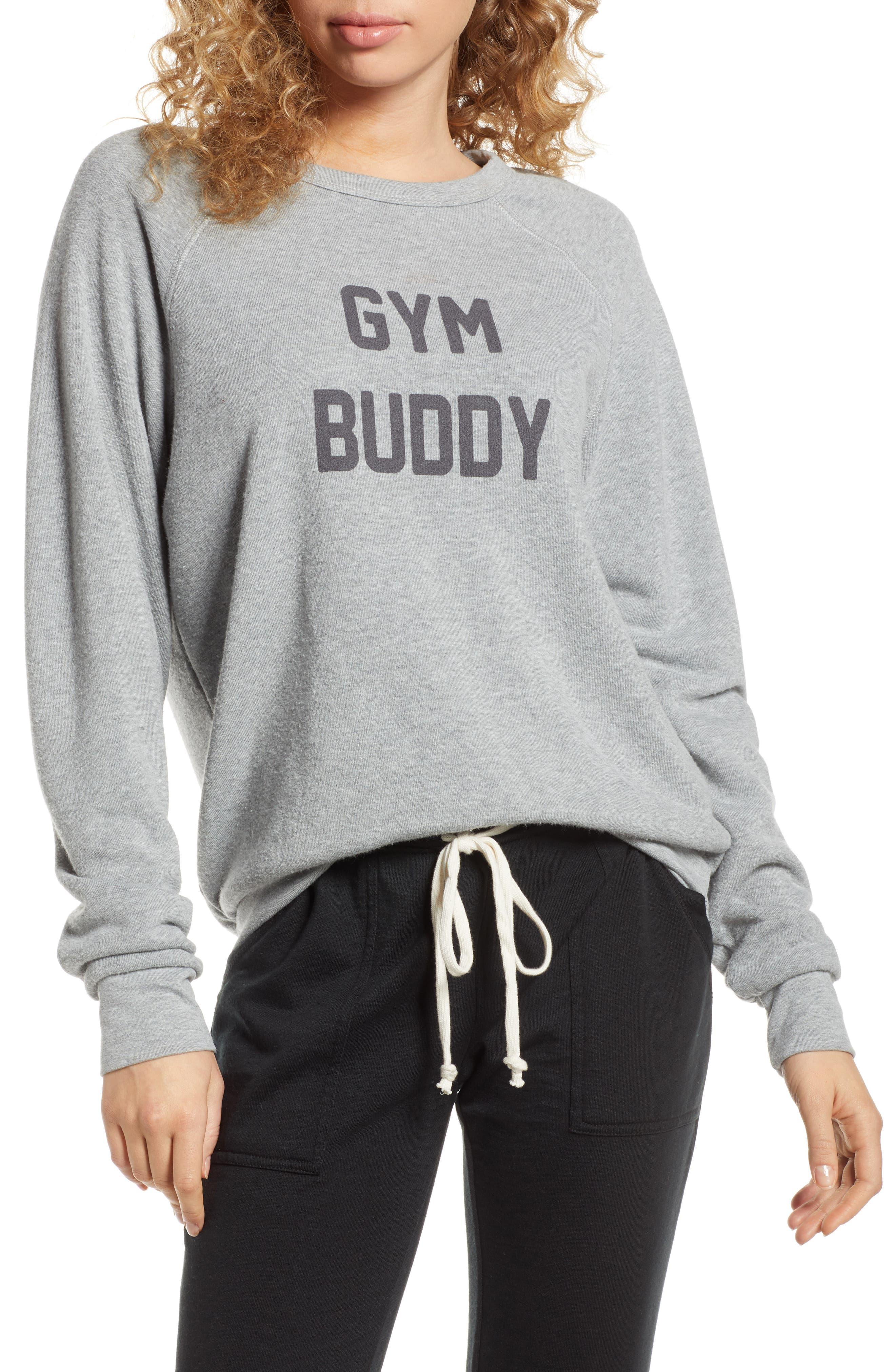 Project Social T Gym Buddy/drinking Buddy Reversible Sweatshirt, Grey