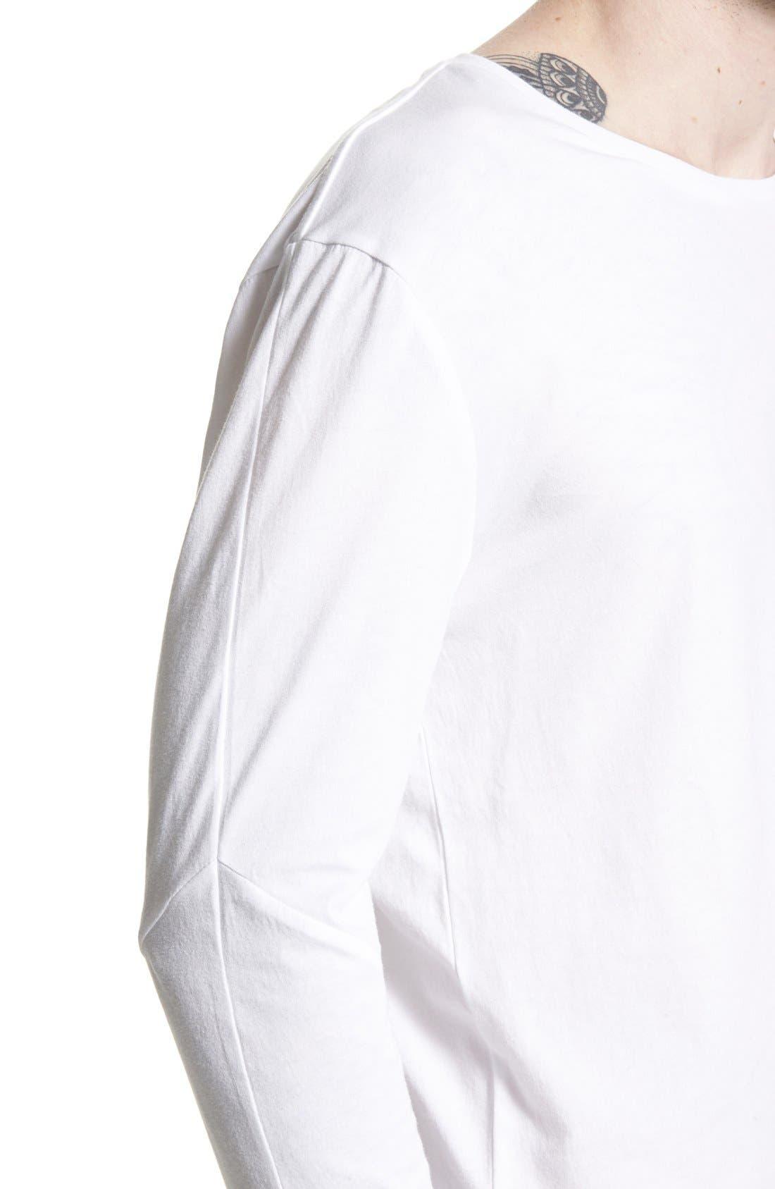 Flintlock Longline Long Sleeve T-Shirt,                             Alternate thumbnail 3, color,                             WHITE