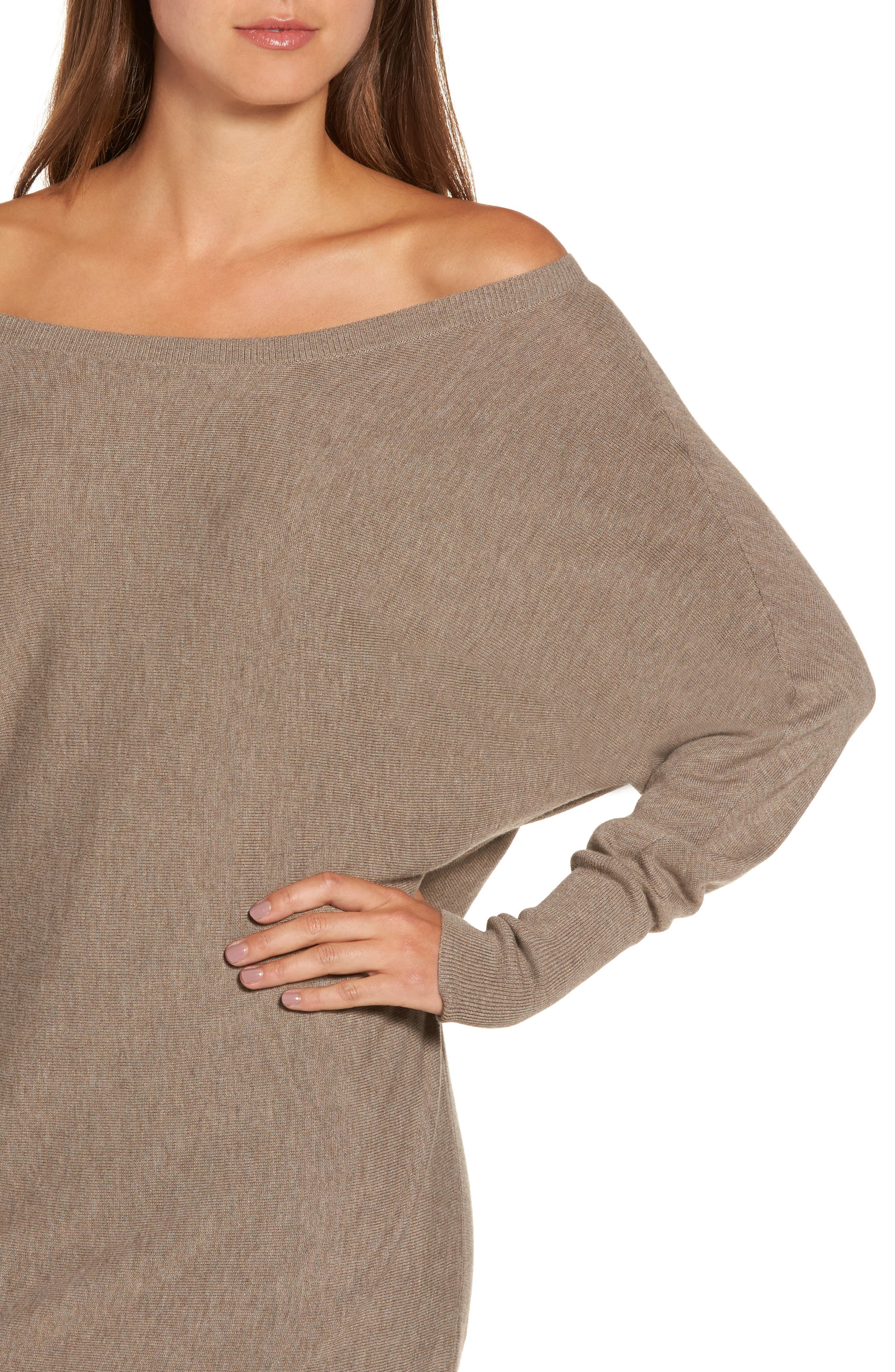 Off the Shoulder Sweater Tunic,                             Alternate thumbnail 22, color,