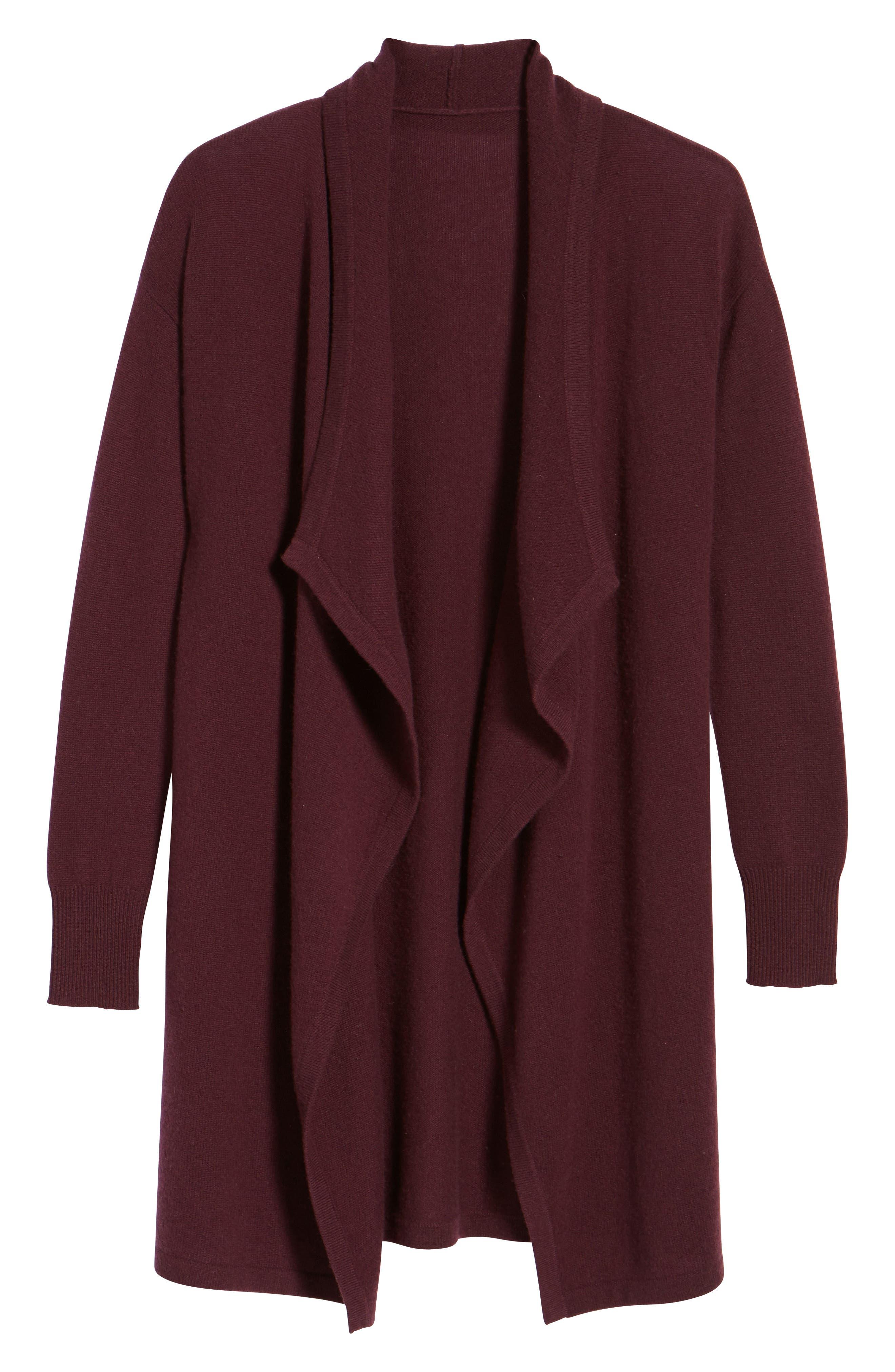 Cashmere Long Drape Front Cardigan,                             Alternate thumbnail 43, color,