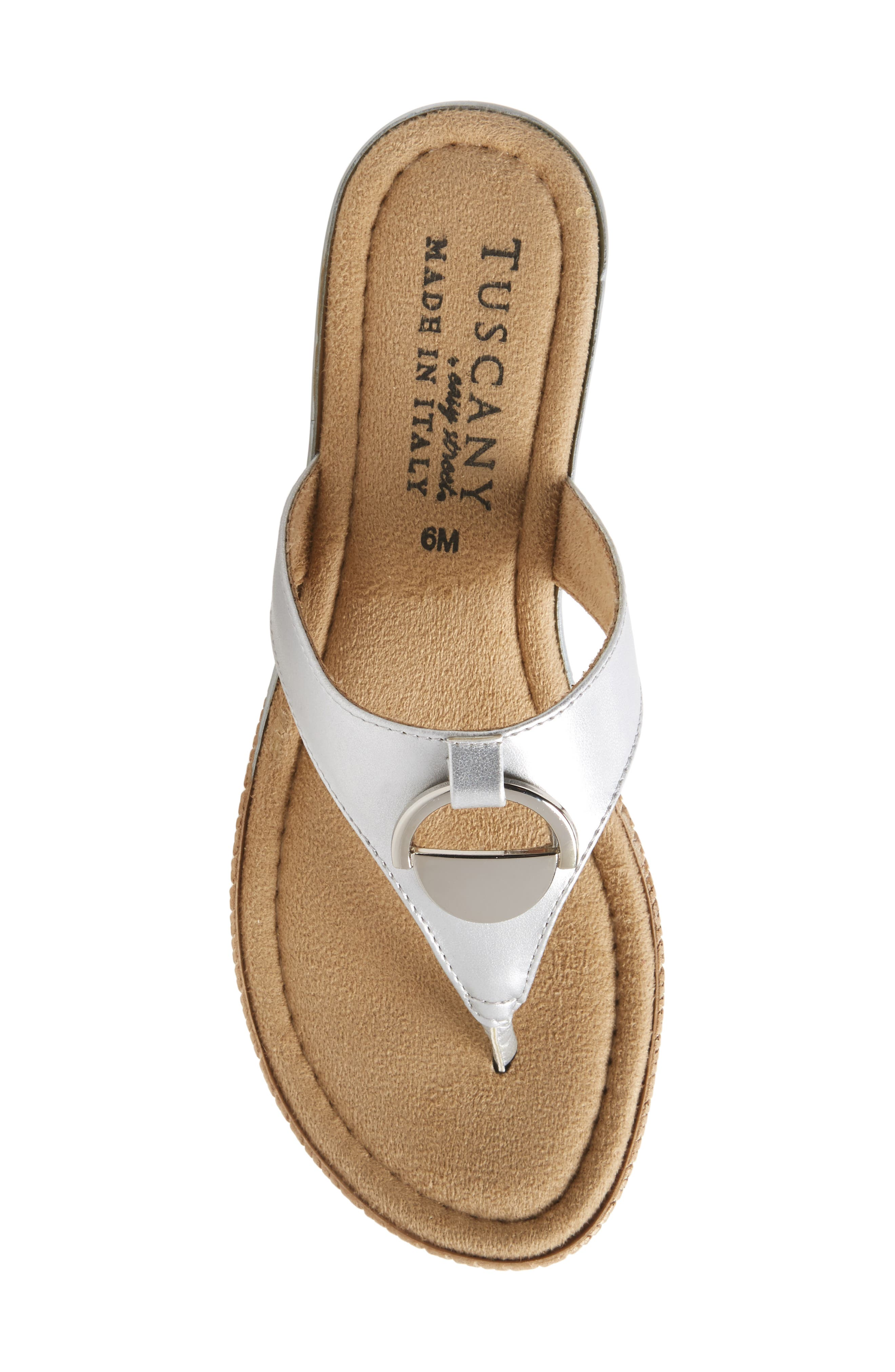 by Easy Street<sup>®</sup> Belinda Flip Flop,                             Alternate thumbnail 5, color,                             SILVER FAUX LEATHER