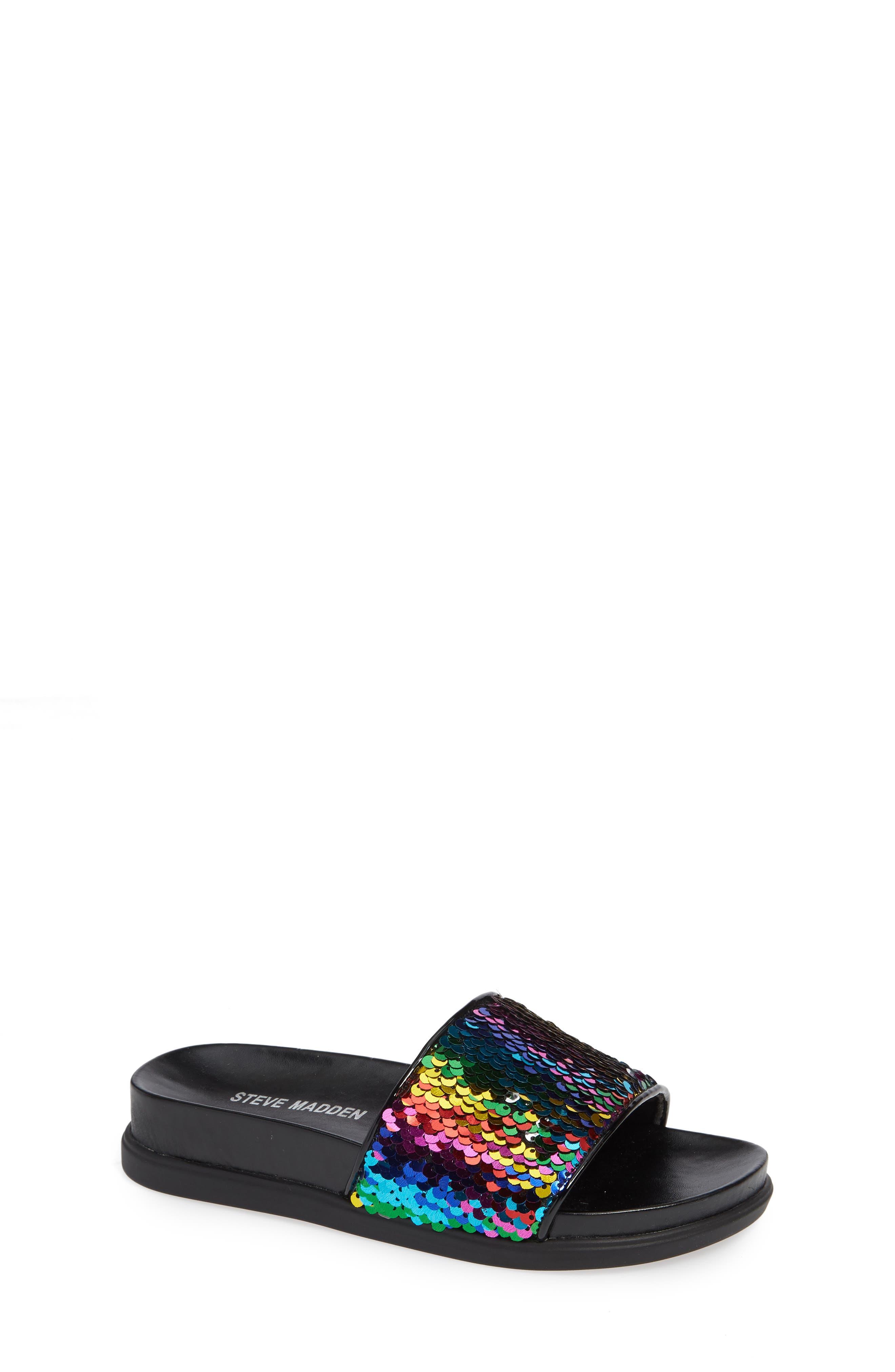 JFLIPS Slide Sandal, Main, color, BLACK MULTI