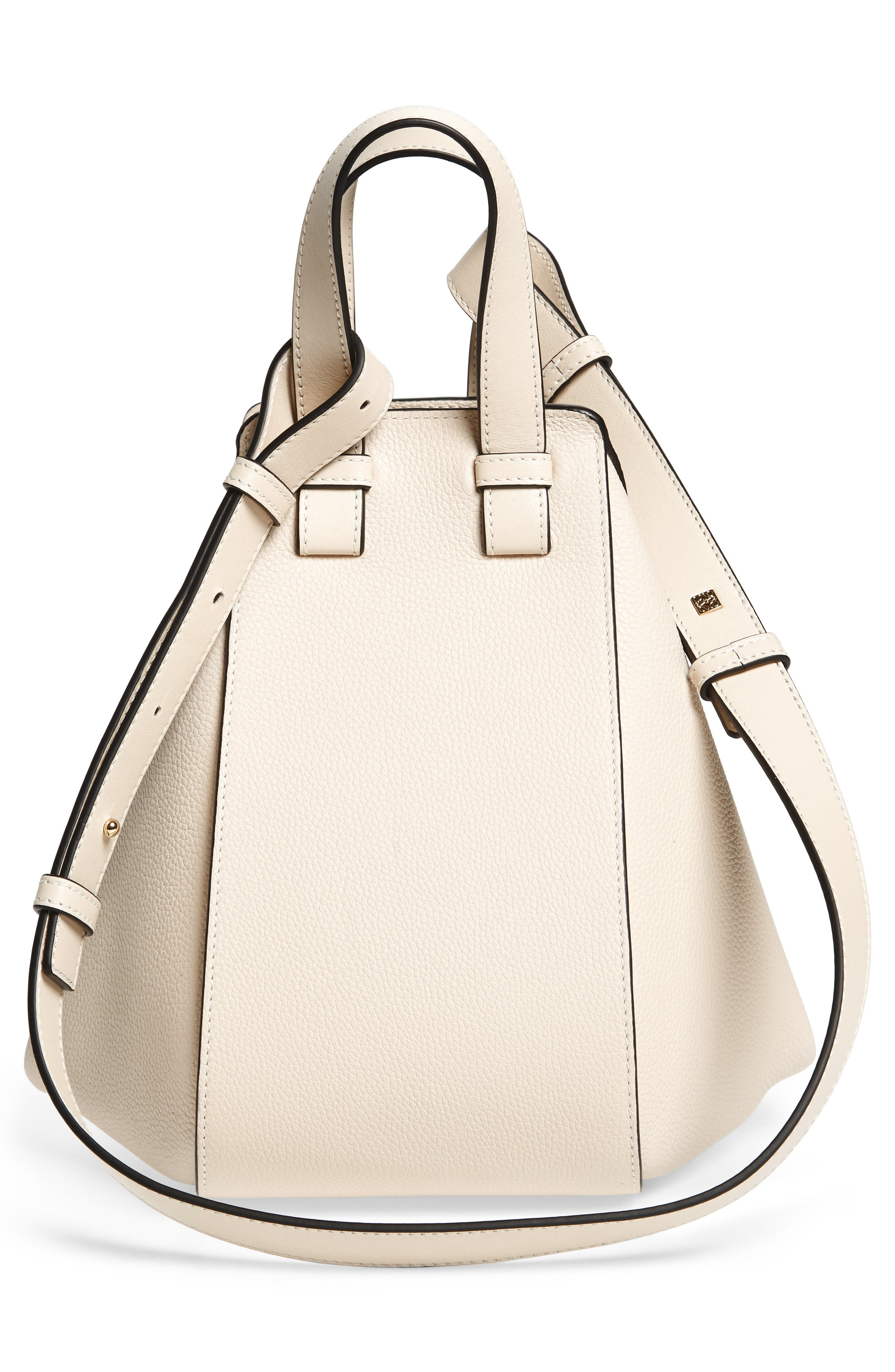 Small Hammock Tricolor Pebbled Leather Hobo,                             Alternate thumbnail 4, color,                             IVORY