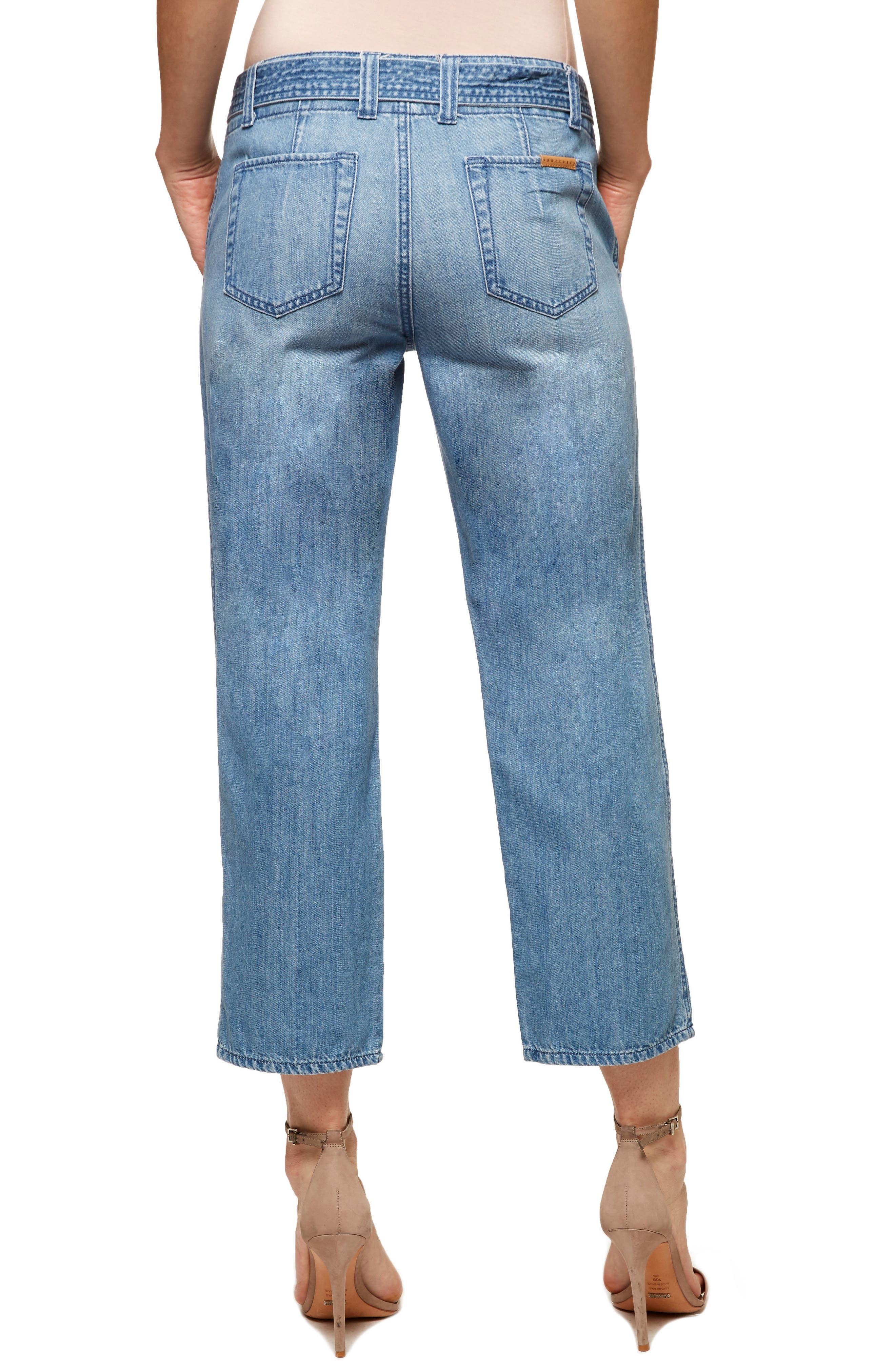 Karate Belted Crop Jeans,                             Alternate thumbnail 2, color,                             411