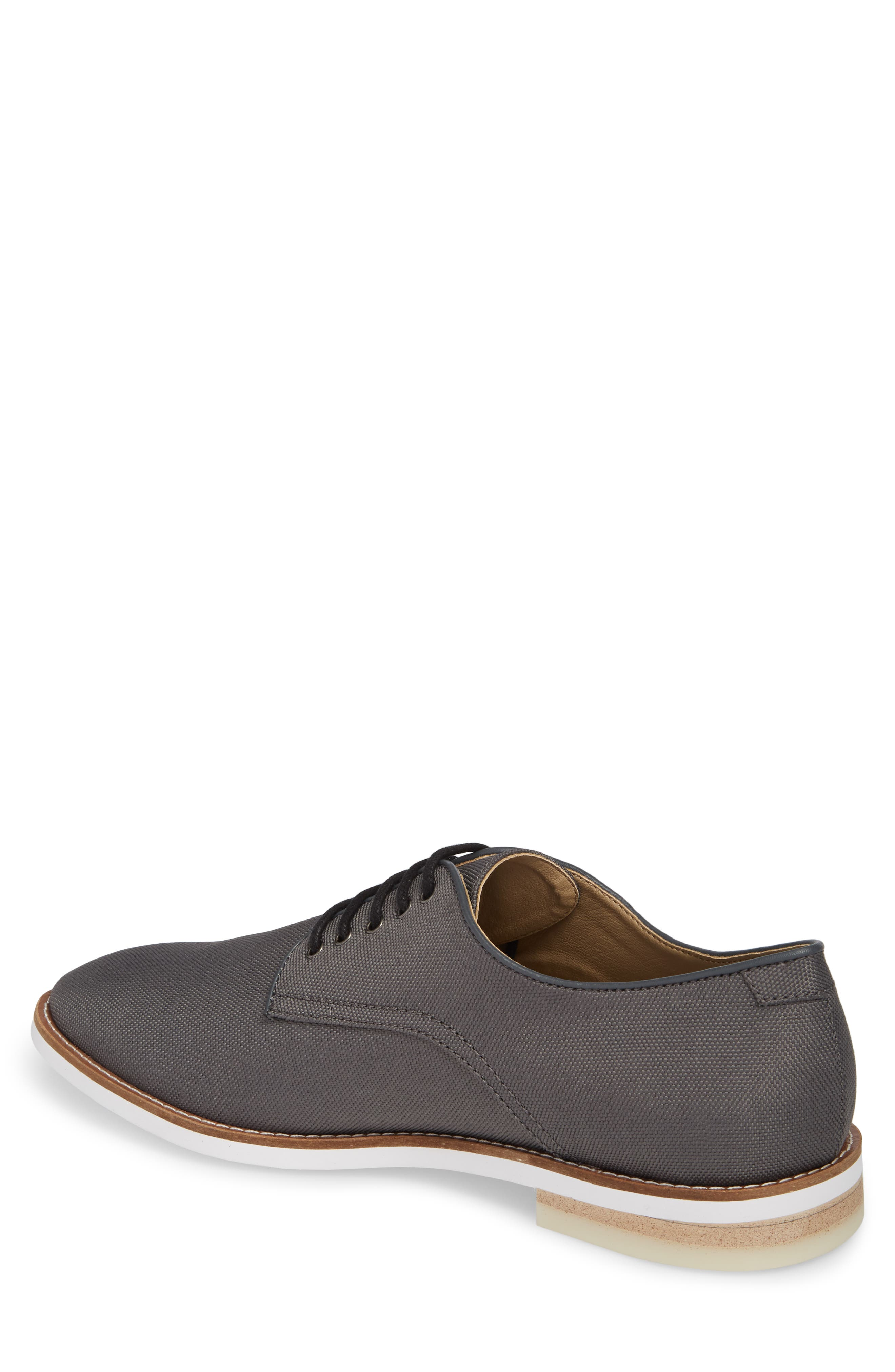 Atlee Plain Toe Derby,                             Alternate thumbnail 2, color,                             GREY SYNTHETIC
