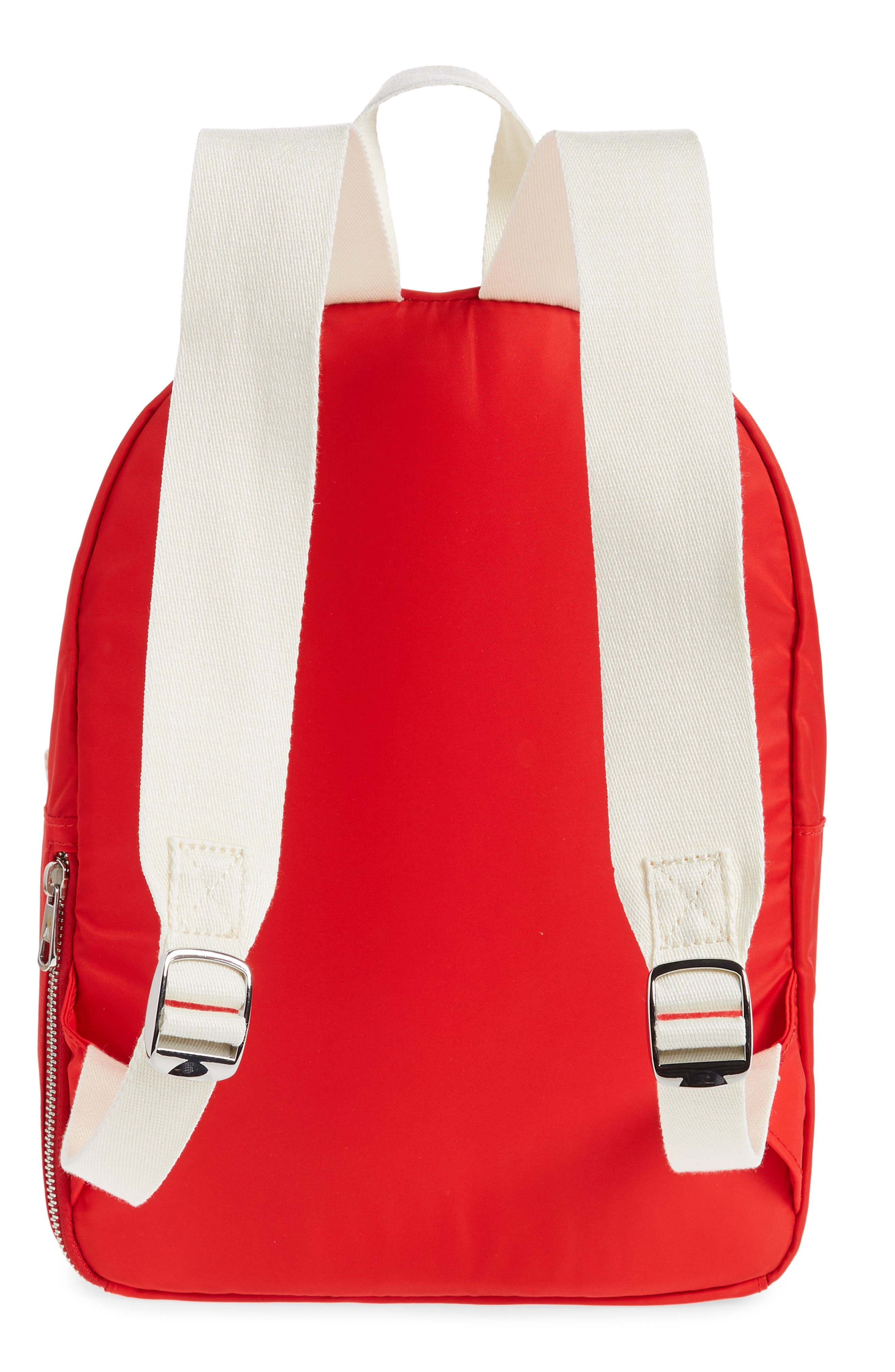 The Heights Mini Lorimer Nylon Backpack,                             Alternate thumbnail 3, color,                             RED