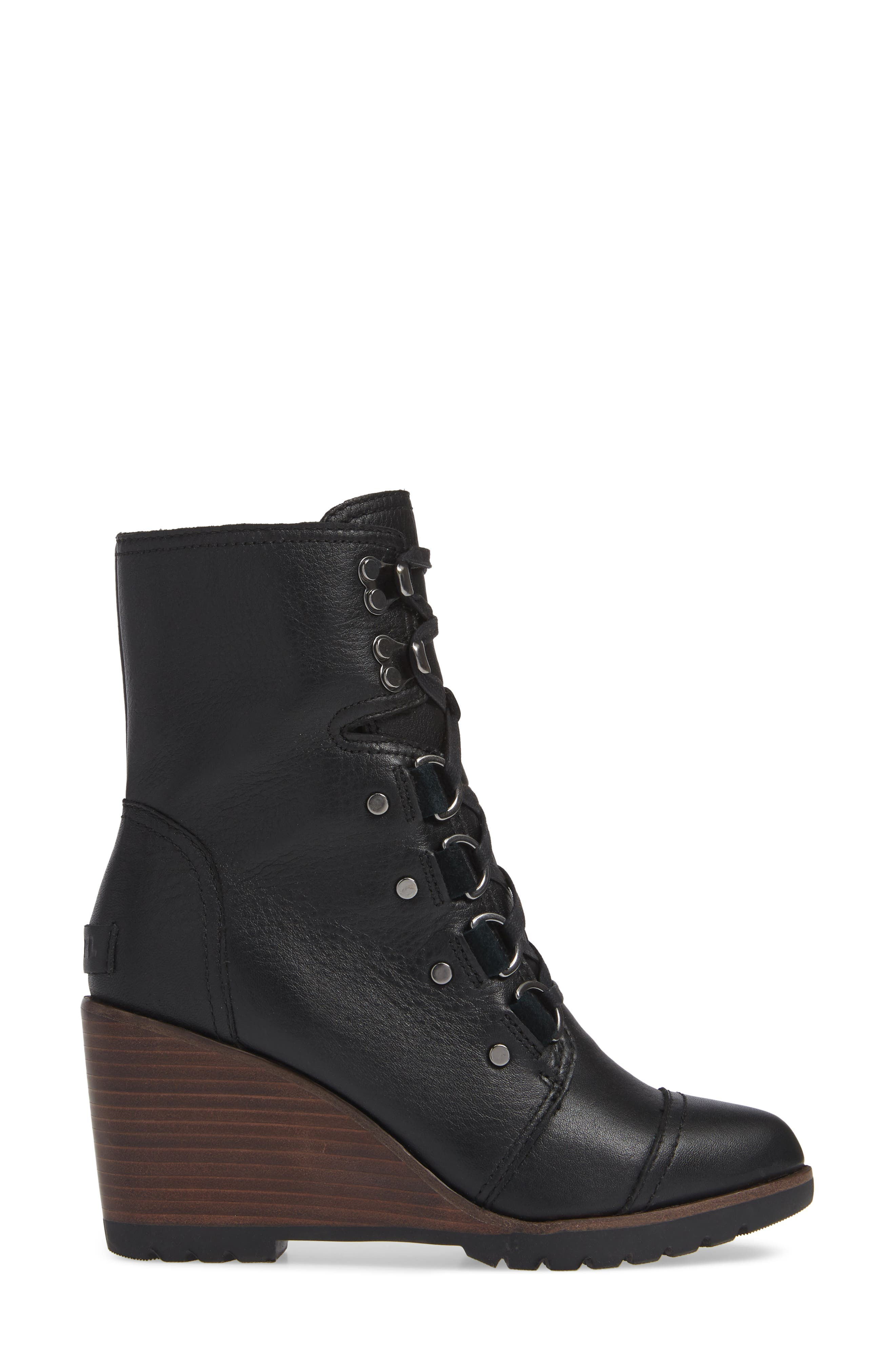 After Hours Lace-Up Waterproof Boot,                             Alternate thumbnail 3, color,                             010