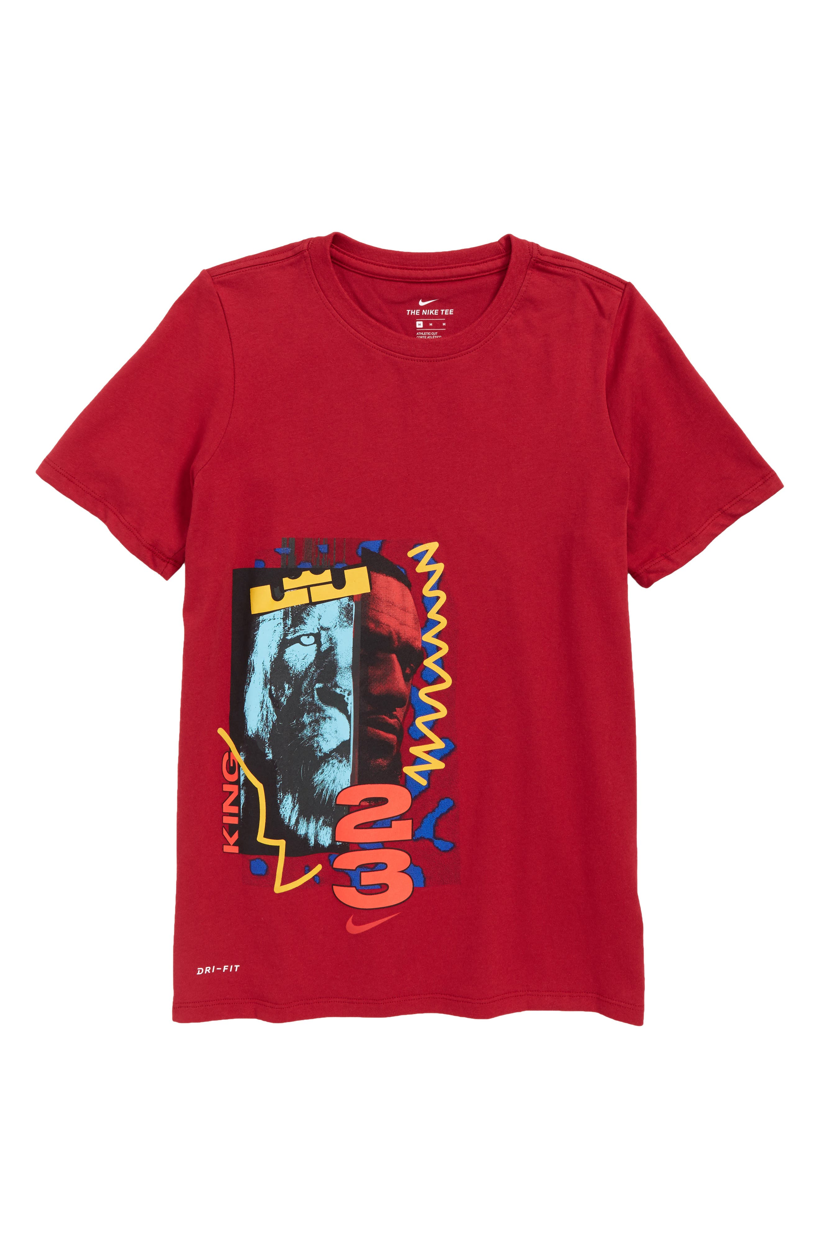 Dry LeBron James Graphic T-Shirt,                             Main thumbnail 1, color,                             RED CRUSH