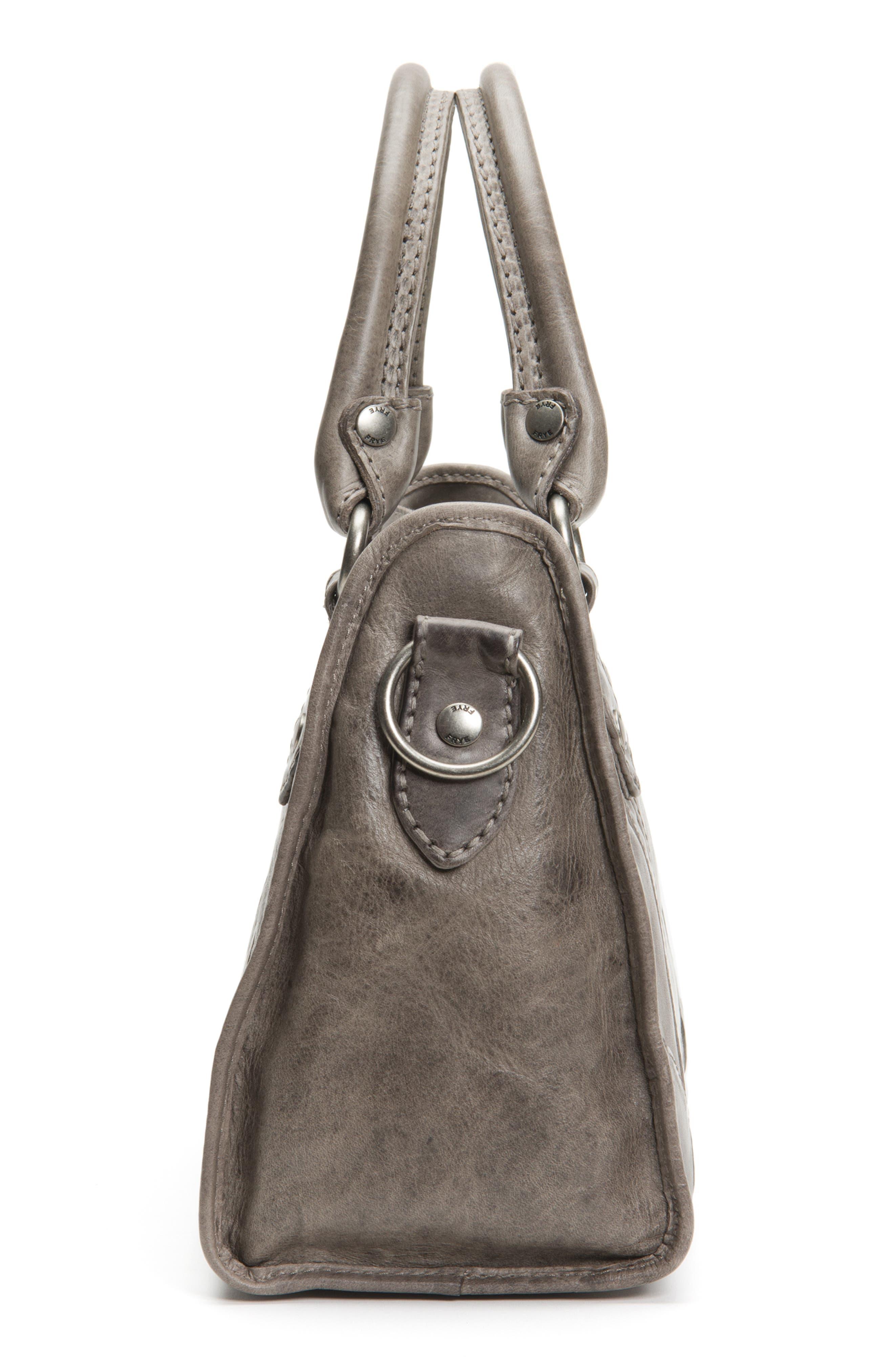 FRYE,                             'Melissa' Washed Leather Satchel,                             Alternate thumbnail 6, color,                             ICE