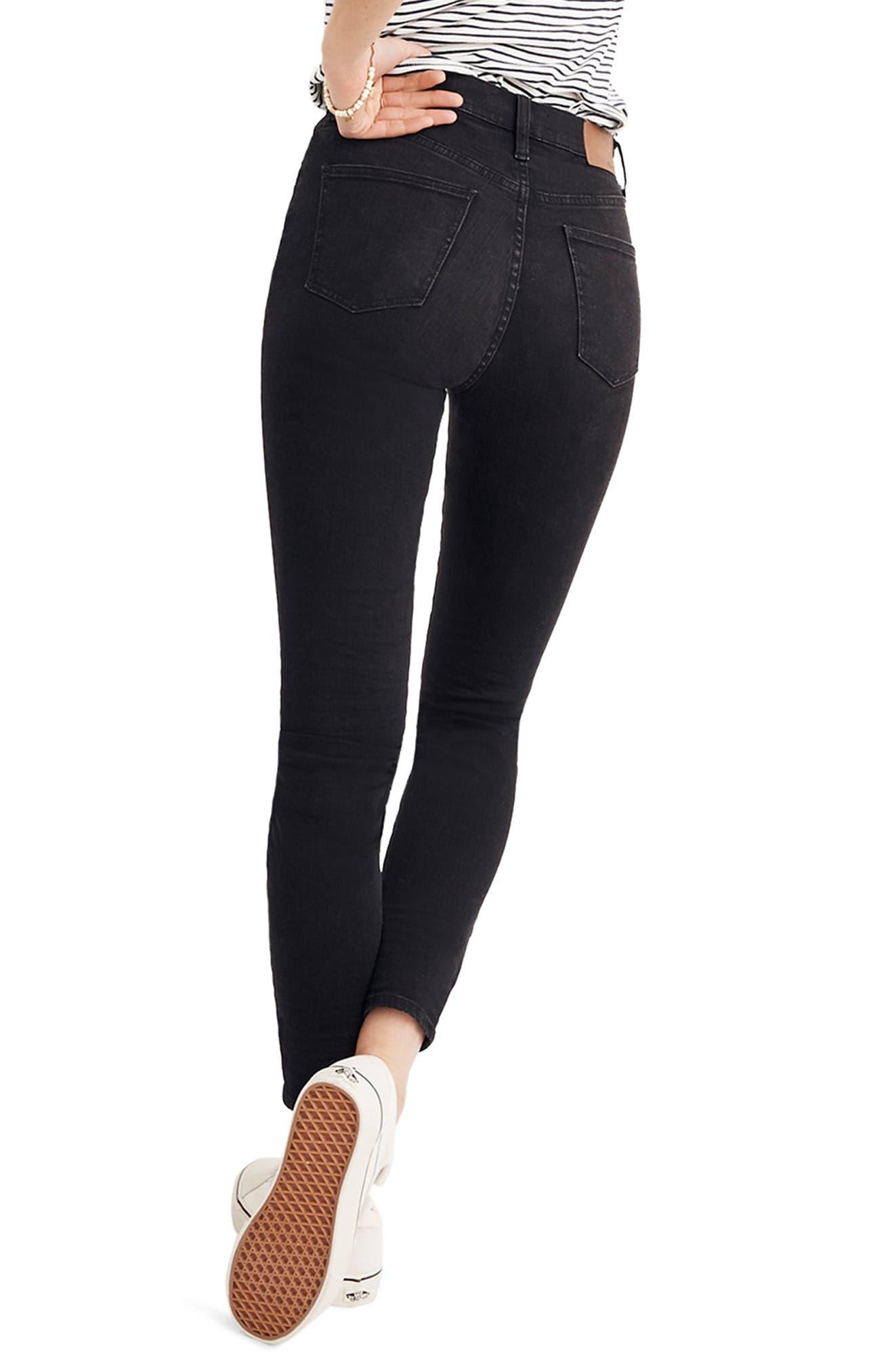 9-Inch High Rise Skinny Jeans,                             Alternate thumbnail 2, color,                             LUNAR