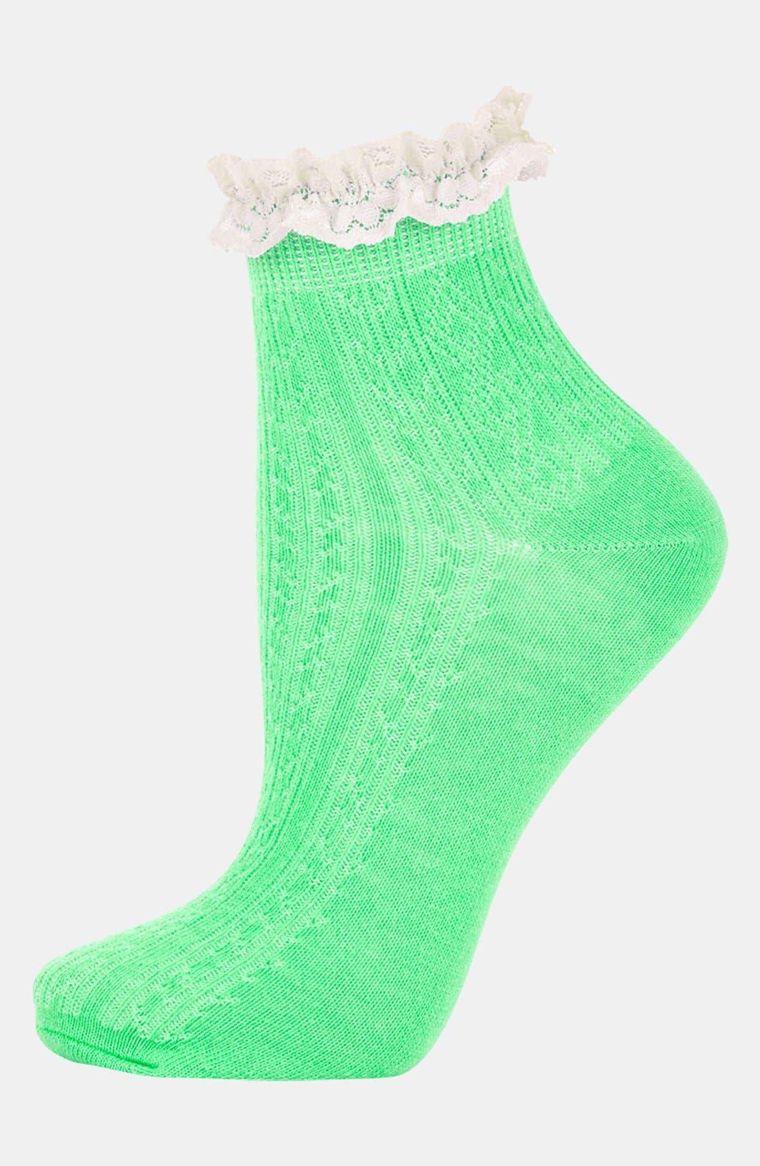 Lace Trim Ankle Socks,                             Main thumbnail 5, color,
